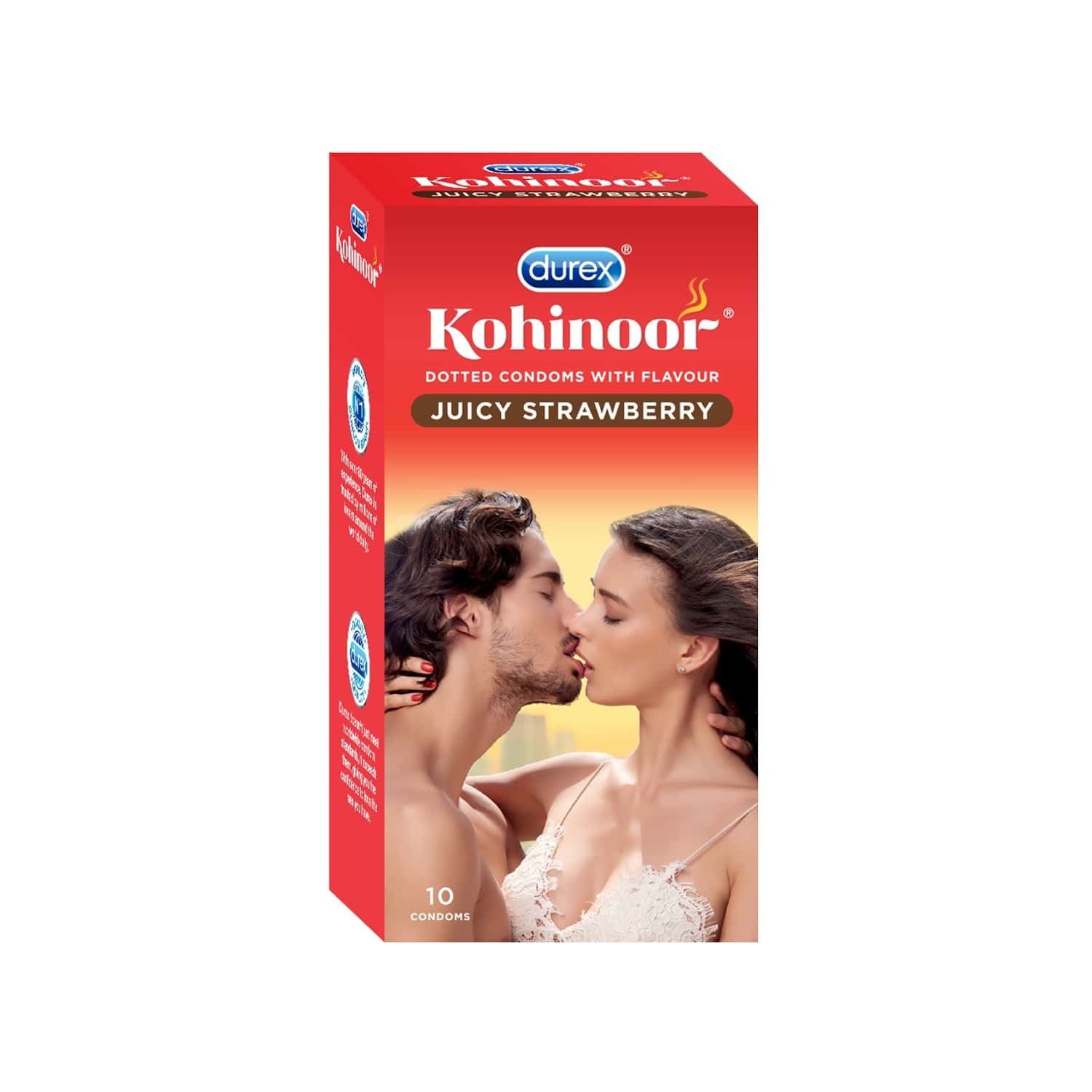 Durex Kohinoor Juicy Strawberry Packet Of 10 Condoms