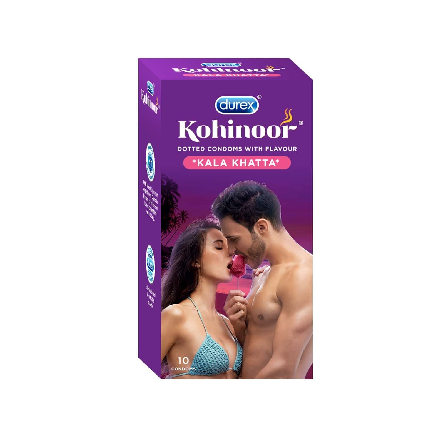 Durex Kohinoor Kala Khatta Packet Of 10 Condoms