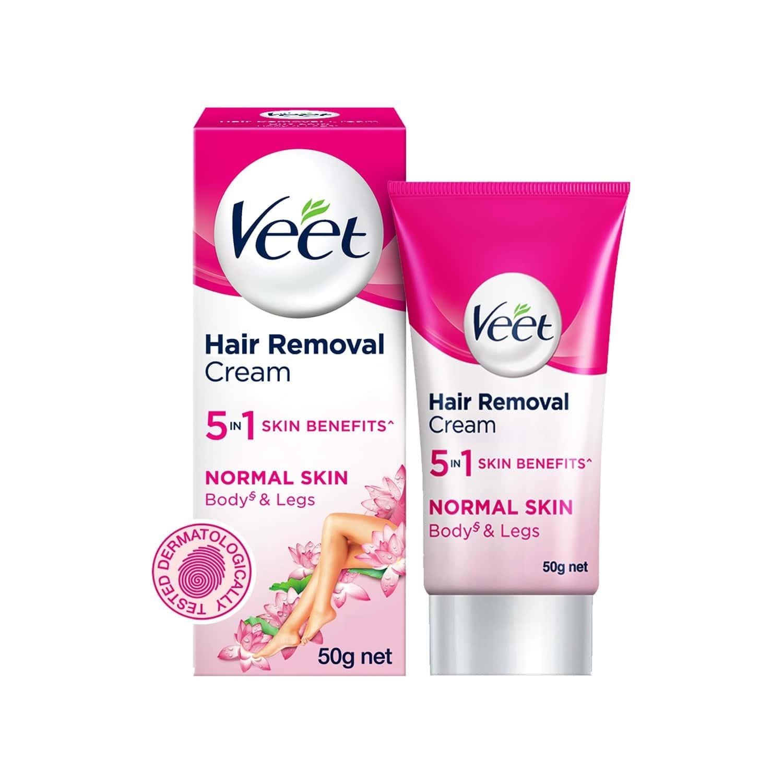 Veet Silk & Fresh Hair Removal Cream Normal Skin Tube Of 50 G