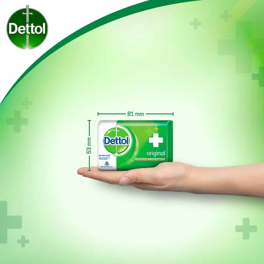 Dettol Bathing Bar Soap, Original - 75g (pack Of 4)
