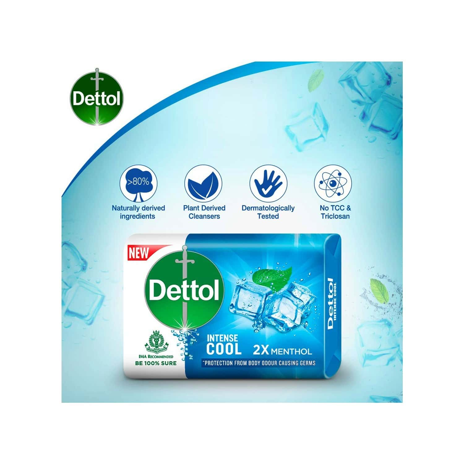 Dettol Cool (pack Of 4) Soap Box Of 75 G