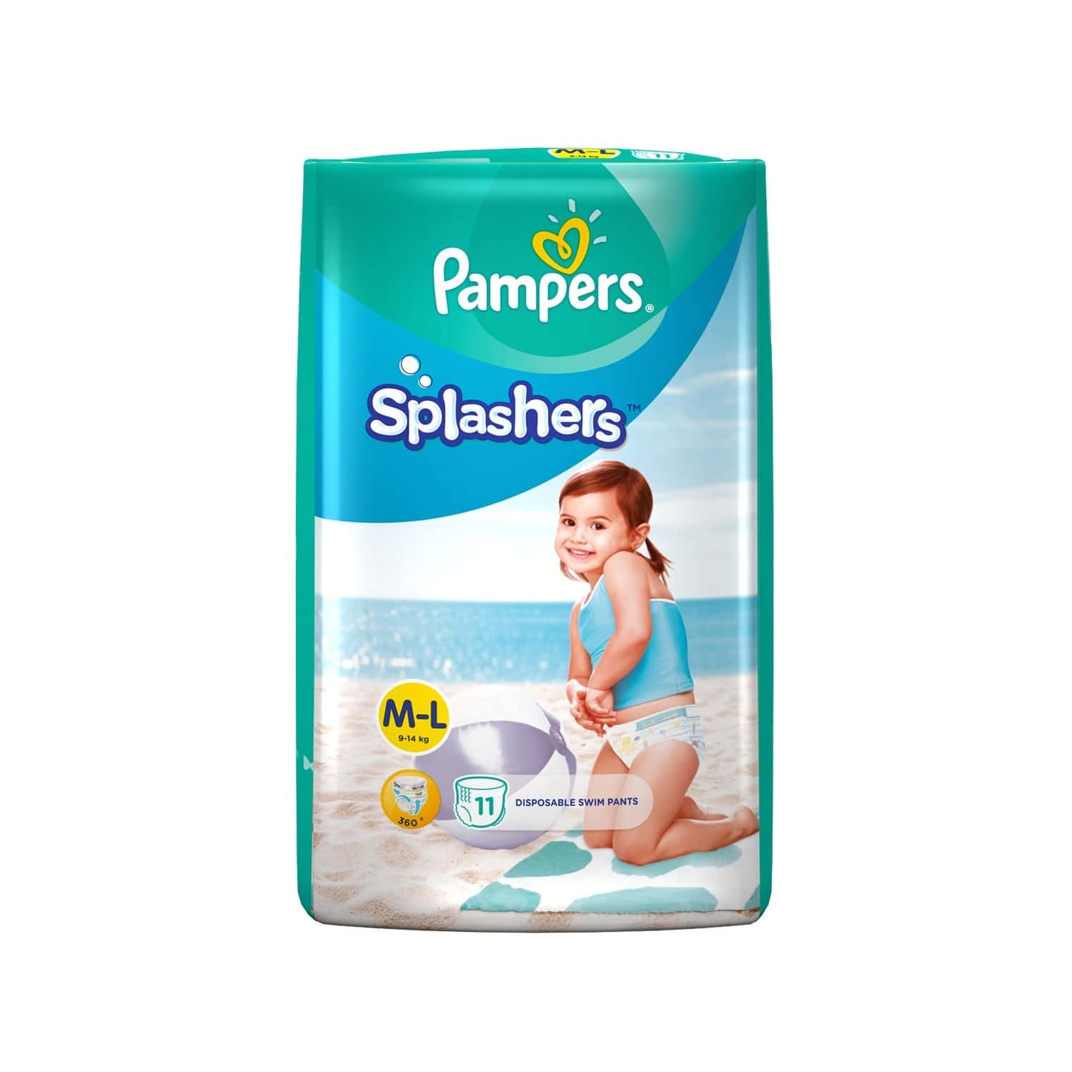 Pampers Splashers Disposable Swim Pants Diaper Size L Packet Of 11