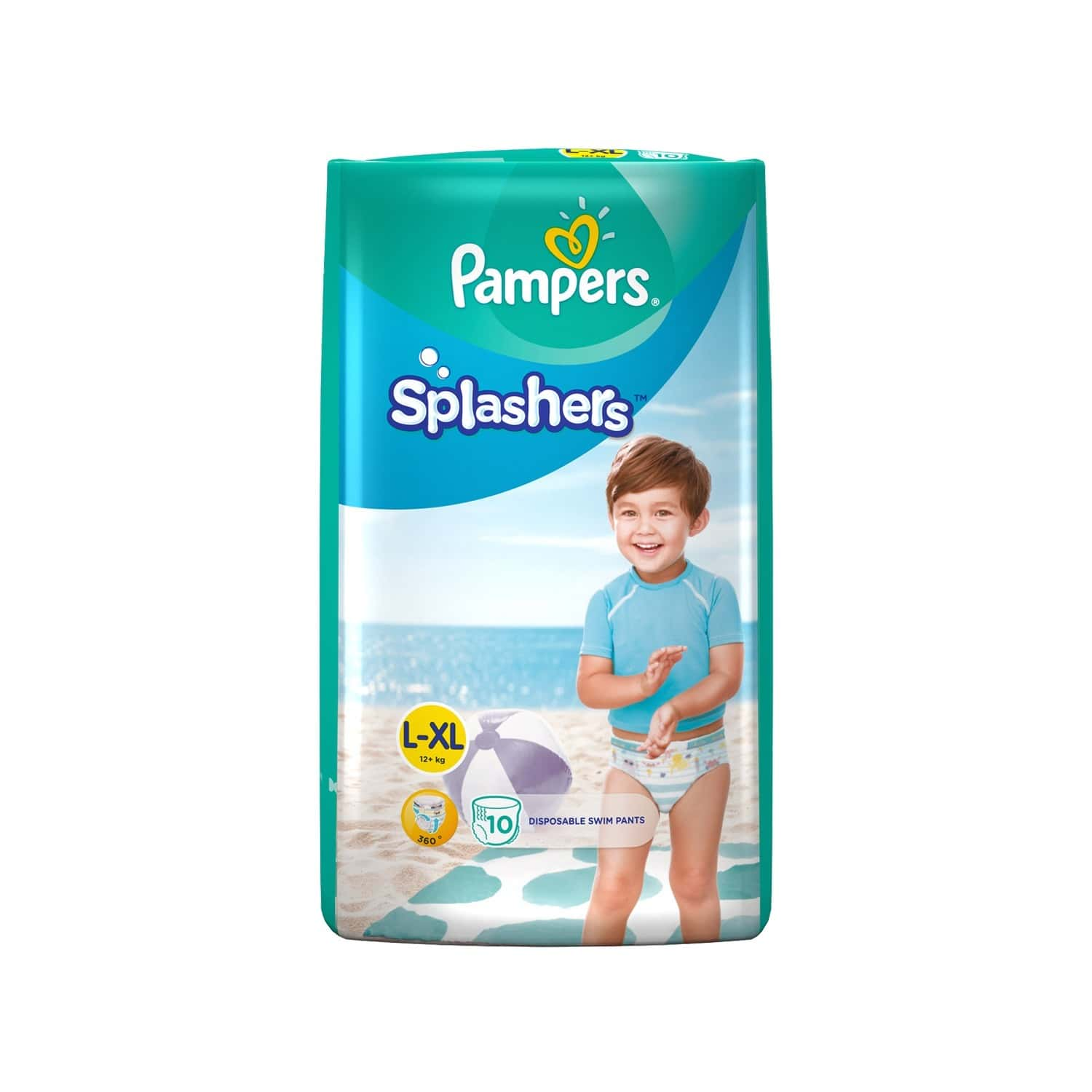 Pampers Splashers Disposable Swim Pants Diaper Size Xl Packet Of 10