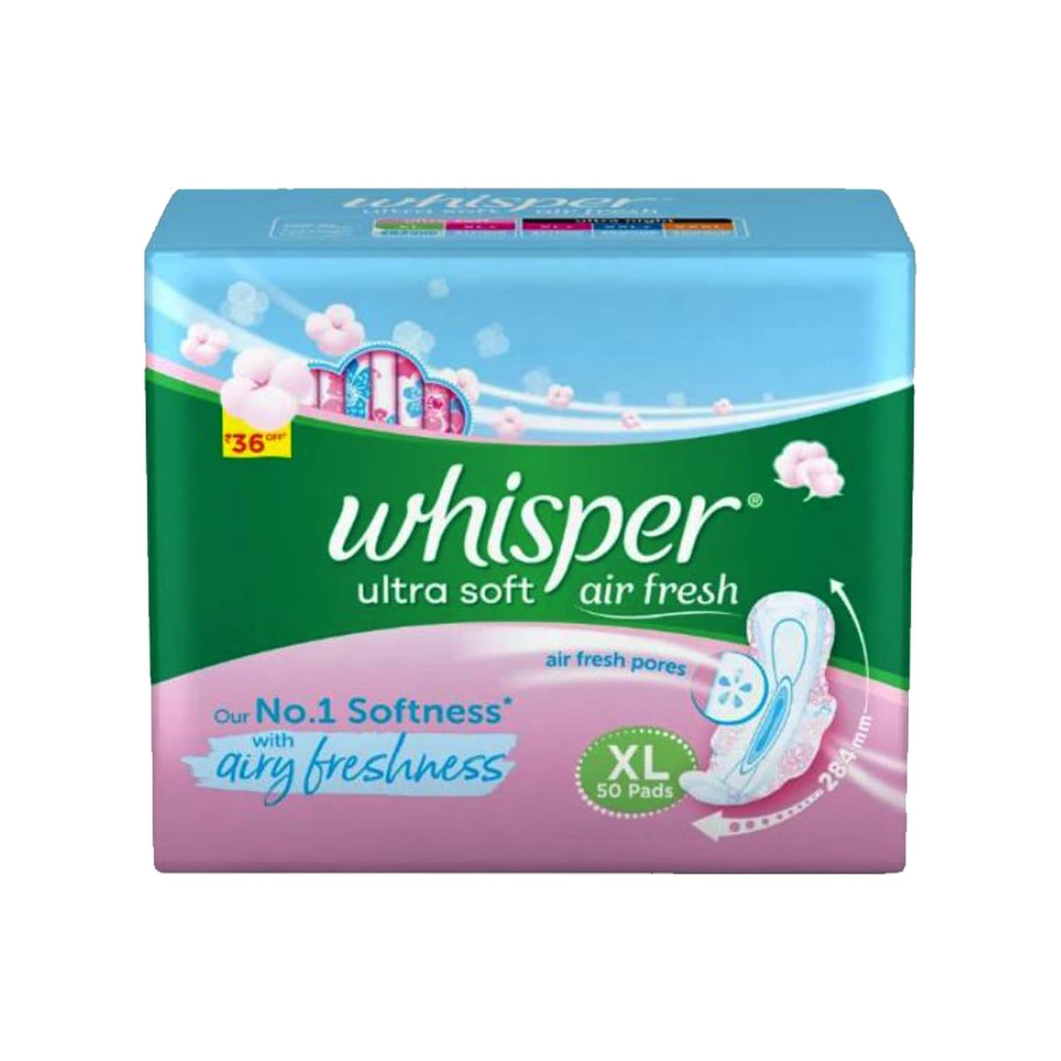 Whisper Ultra Soft Size Xl Sanitary Pads Packet Of 50