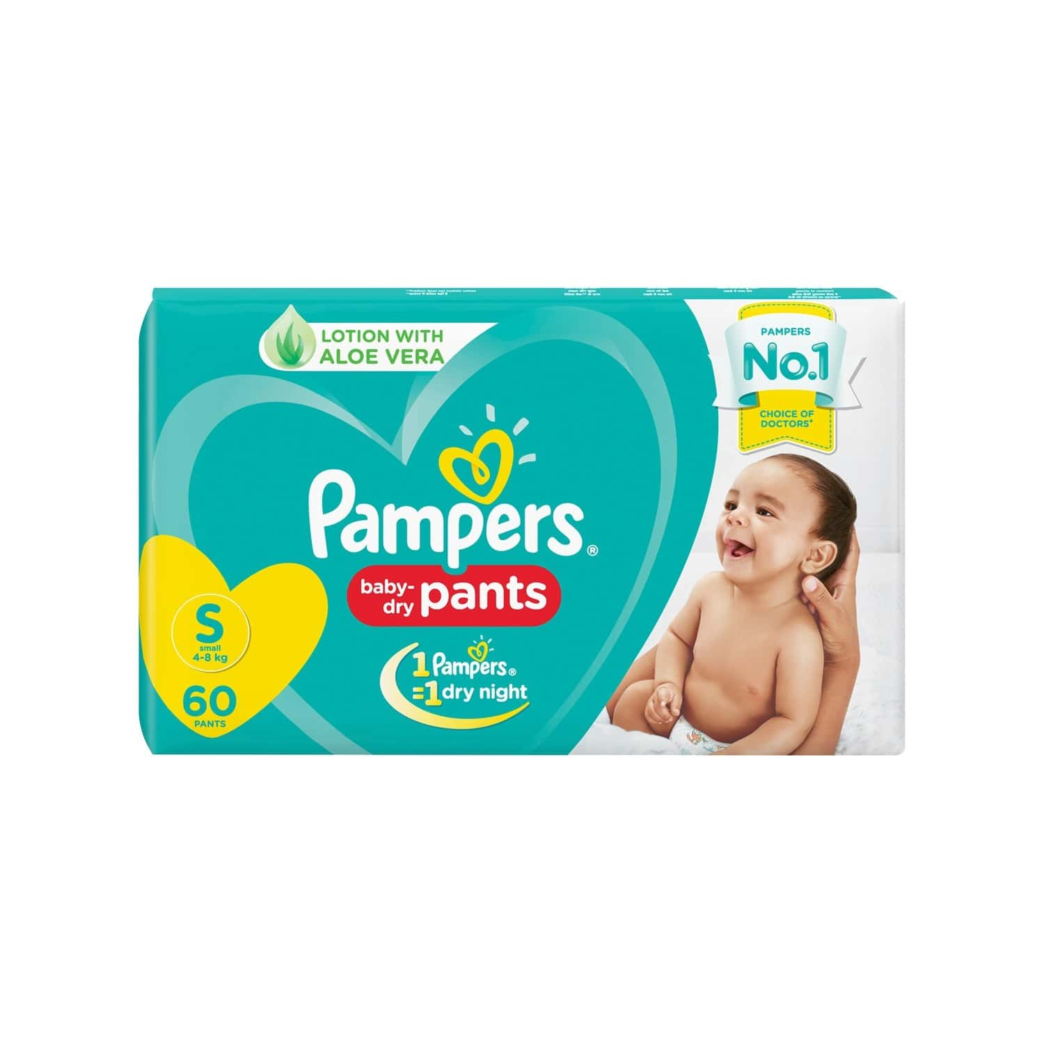 Pampers New Small Size Diapers Pants (60 Count)
