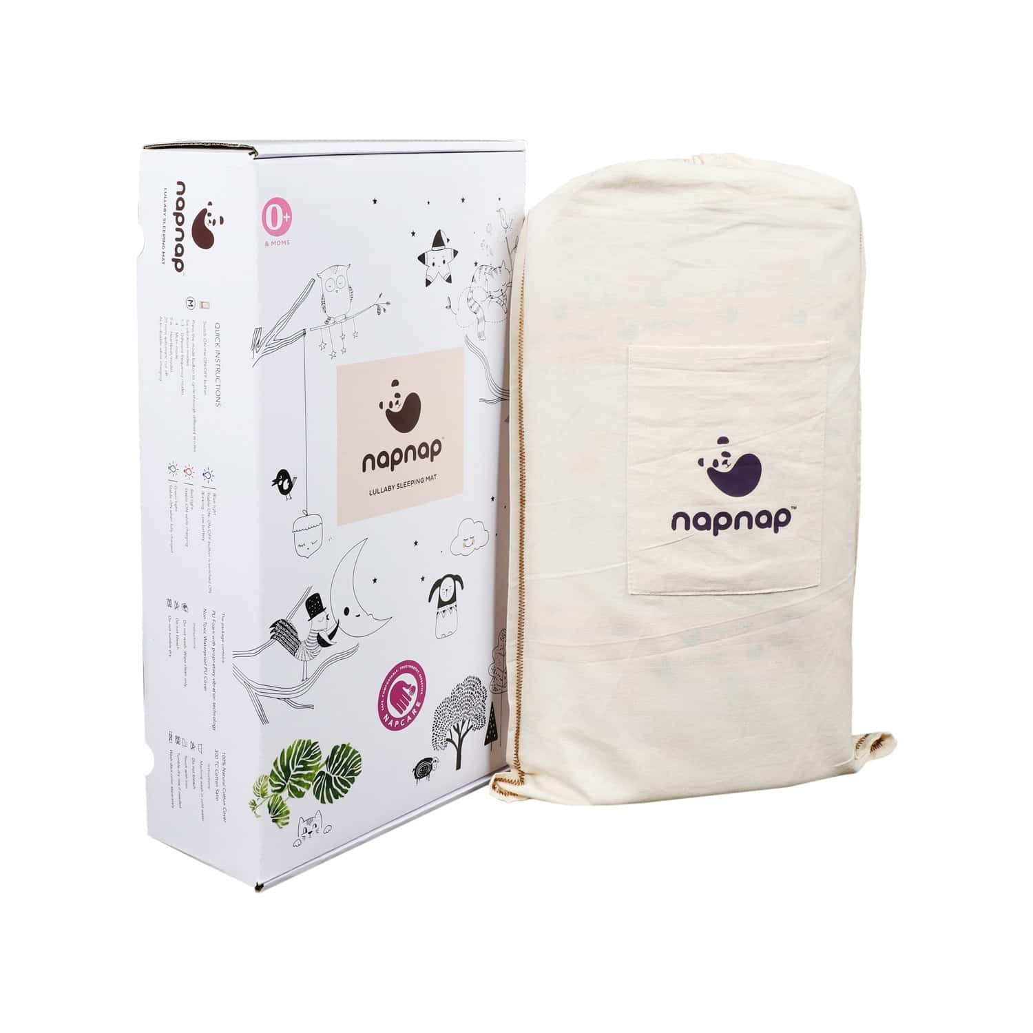 Napnap Portable Soothing Mat For New-borns And New Moms.- Aquamarine