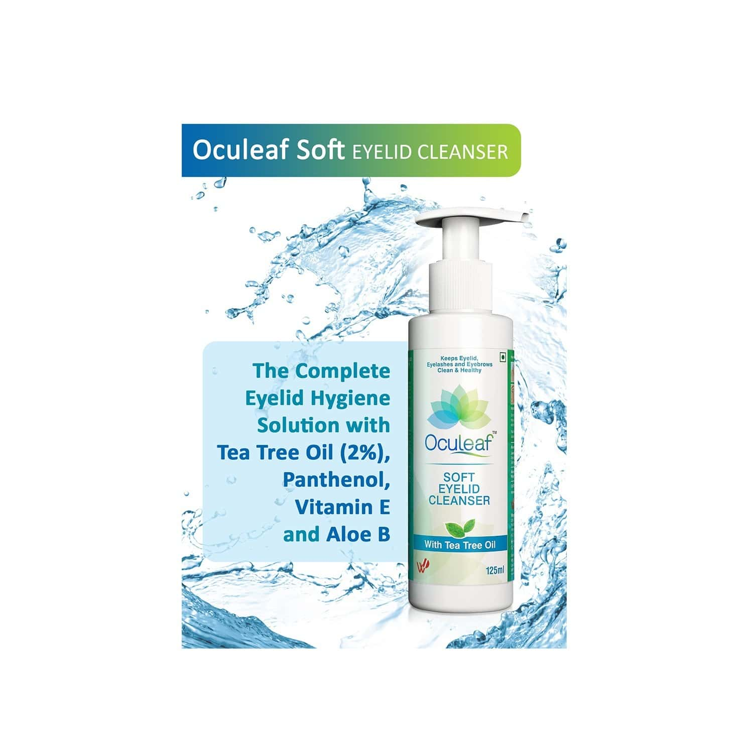 Oculeaf Soft Eyelid Cleanser Packet Of 125 Ml