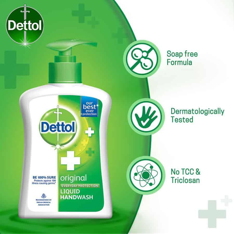 Dettol Ph-balanced Liquid Handwash Jar, Original- 900 Ml With 200 Ml Pump