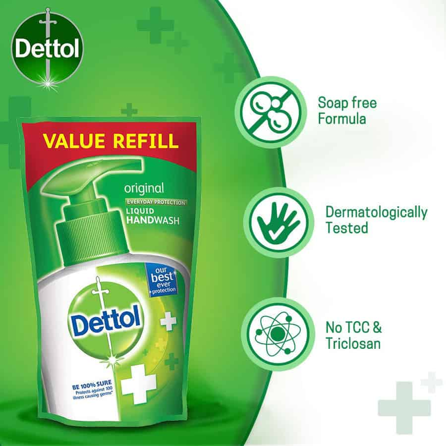 Dettol Germ Protection Handwash Refill, Original- 175ml (pack Of 3)