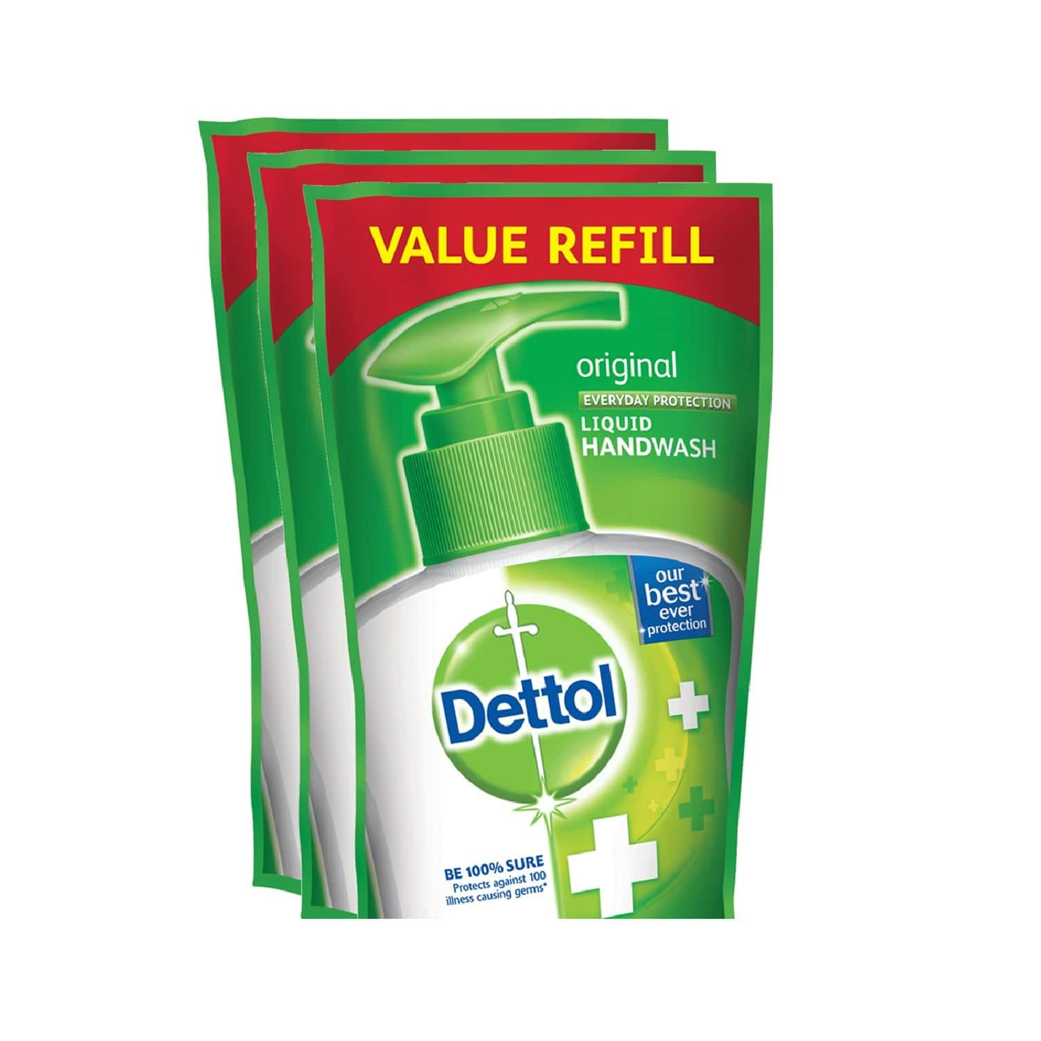 Dettol Germ Protection Original Handwash Refill Of 175 Ml (pack Of 3)
