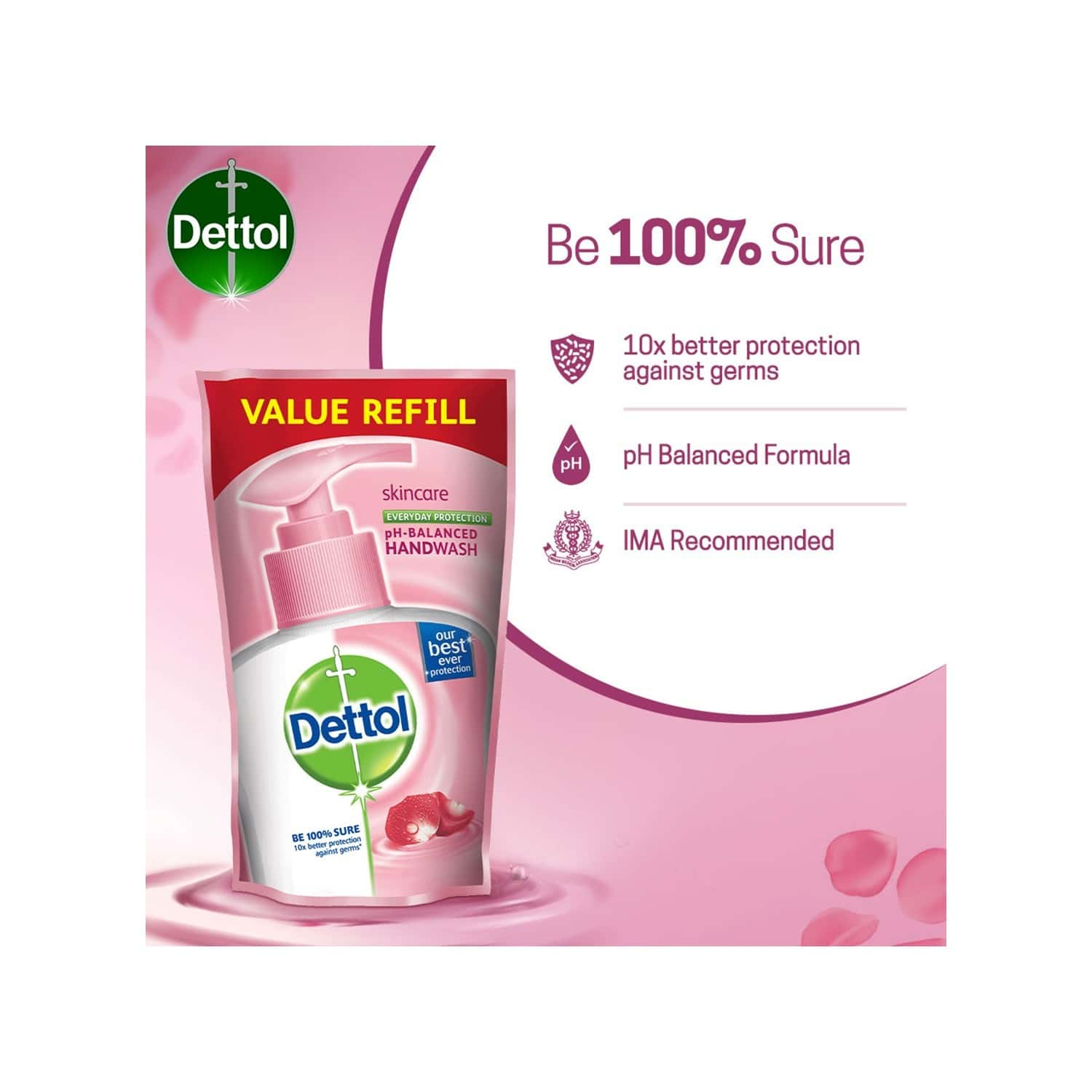 Dettol Germ Protection Skincare Handwash Refill Of 175 Ml (pack Of 3)