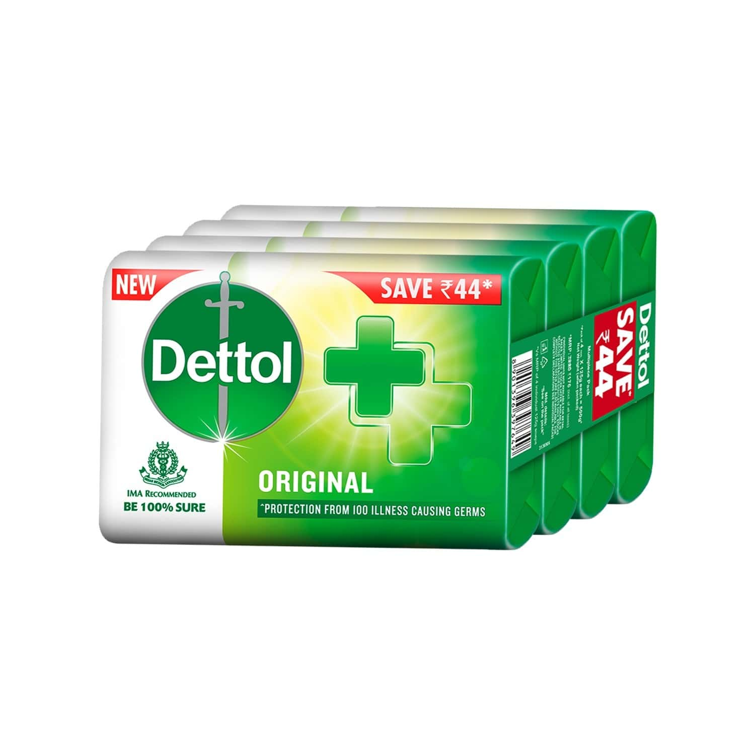 Dettol Original Germ Protection (pack Of 4) Soap Box Of 125 G