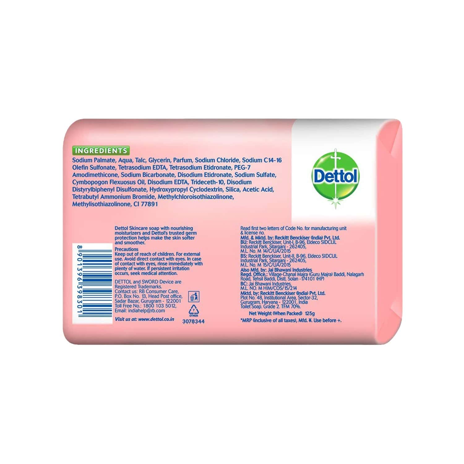 Dettol Skincare Germ Protection (pack Of 4) Soap Box Of 125 G