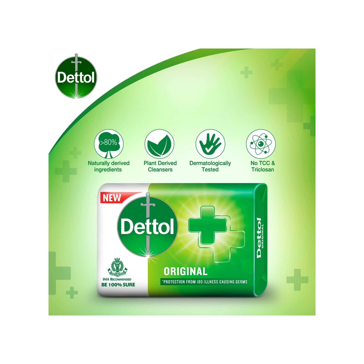 Dettol Germ Protection (pack Of 4) Soap Wrap Of 125 G