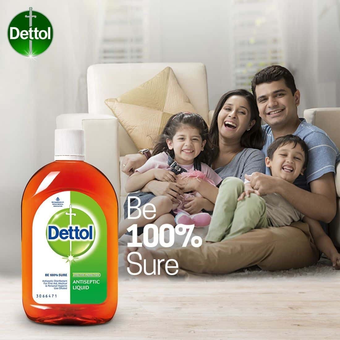 Dettol Antiseptic Liquid Bottle Of 550 Ml
