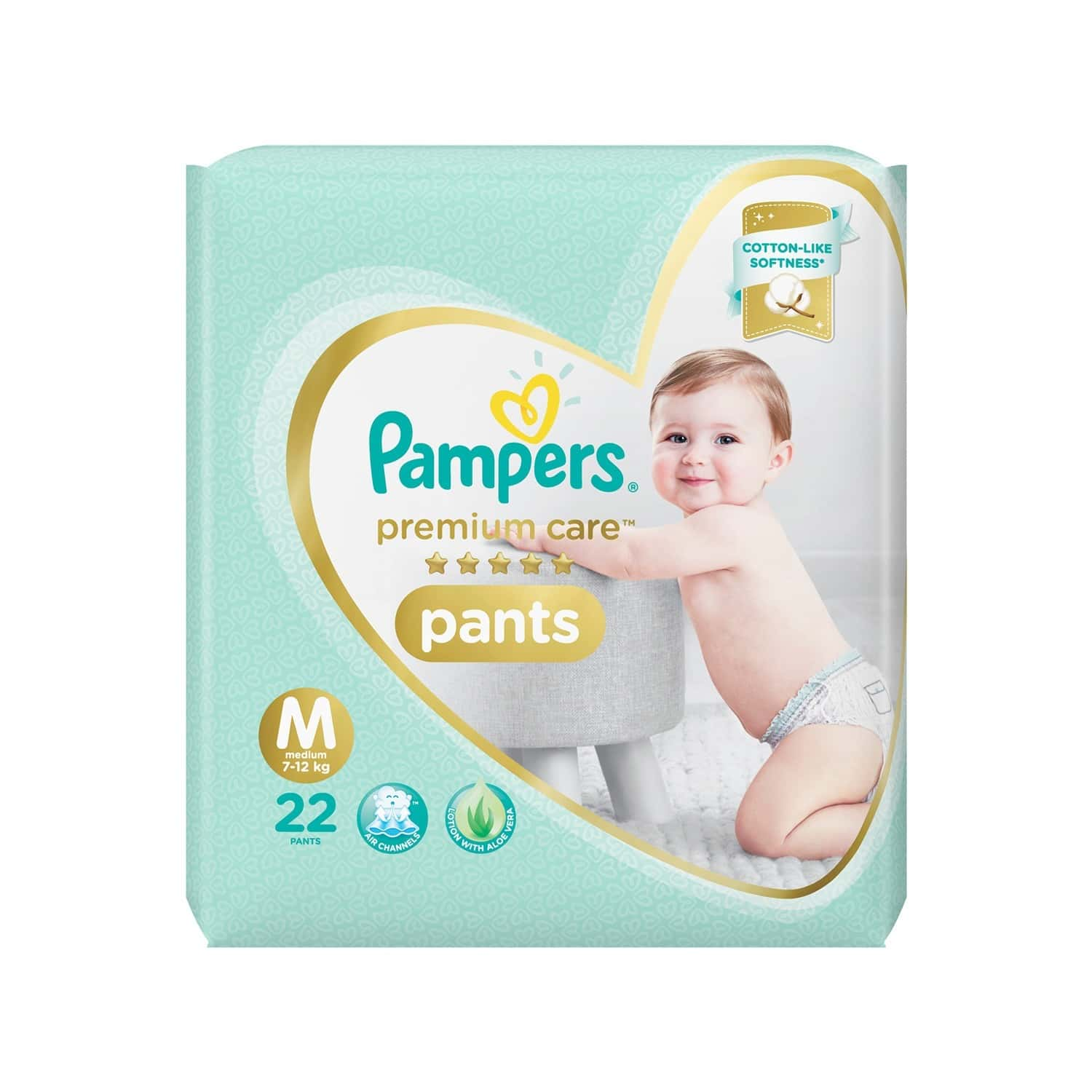 Pampers Premium Care Diaper Size M Packet Of 22