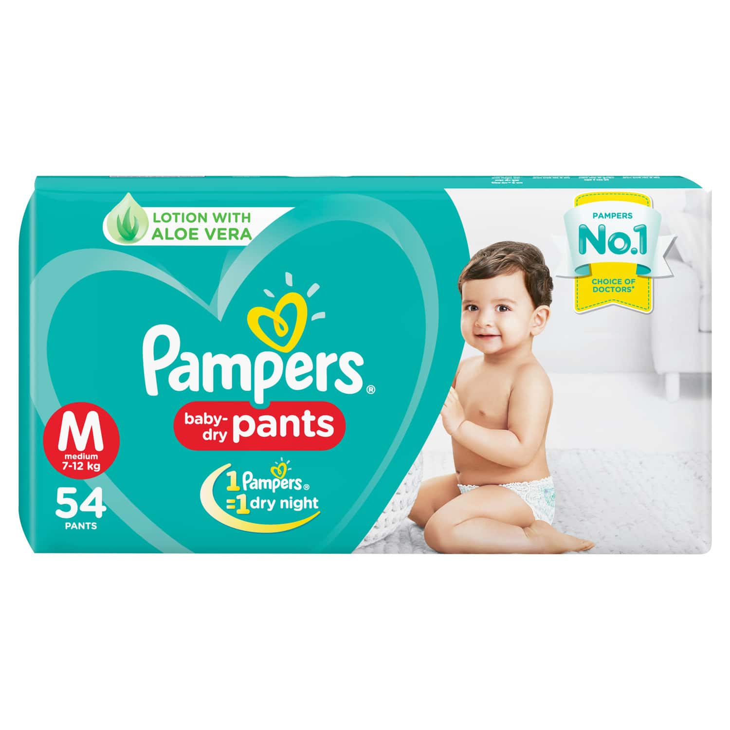 Pampers New Diapers Pants, Medium, 54 Count