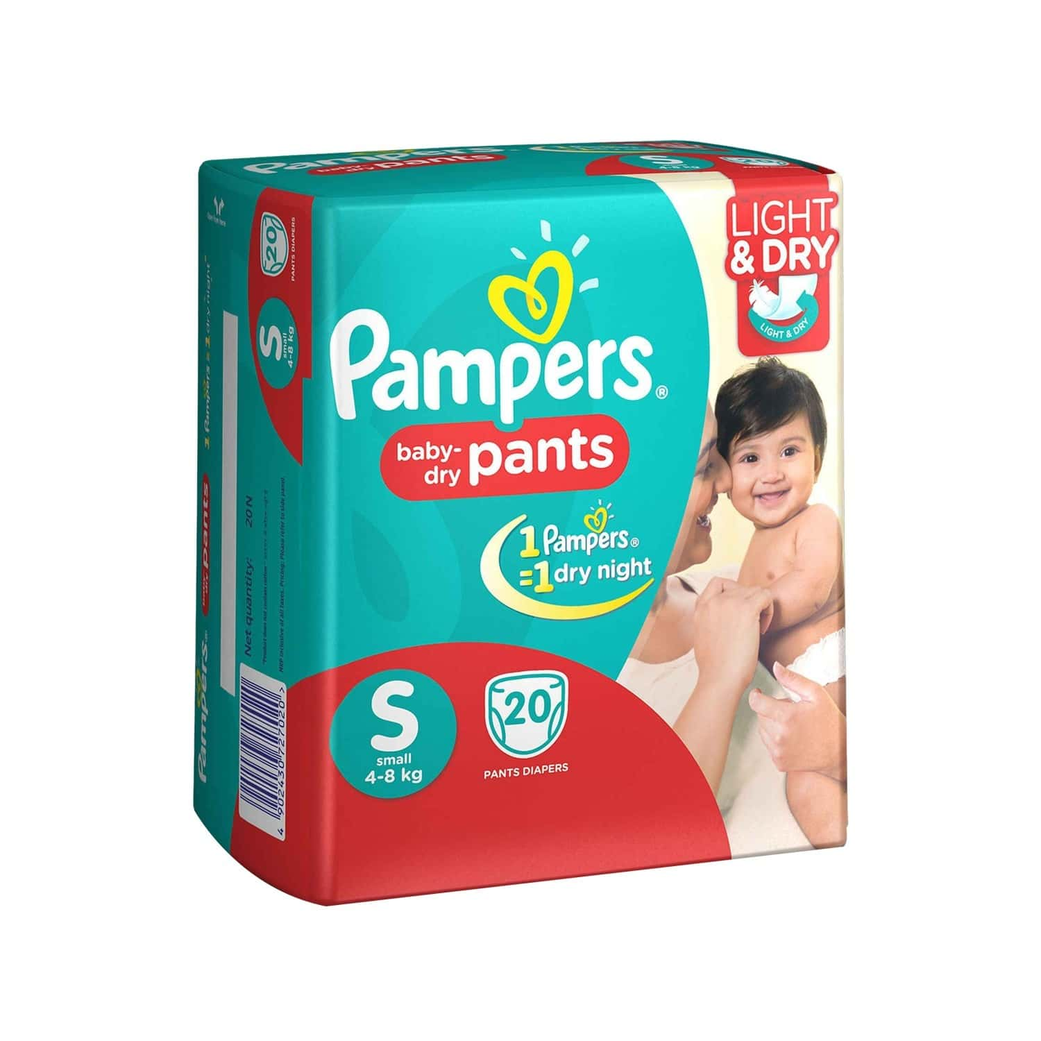 Pampers New  Diaper Pants Packet Of 20 Small