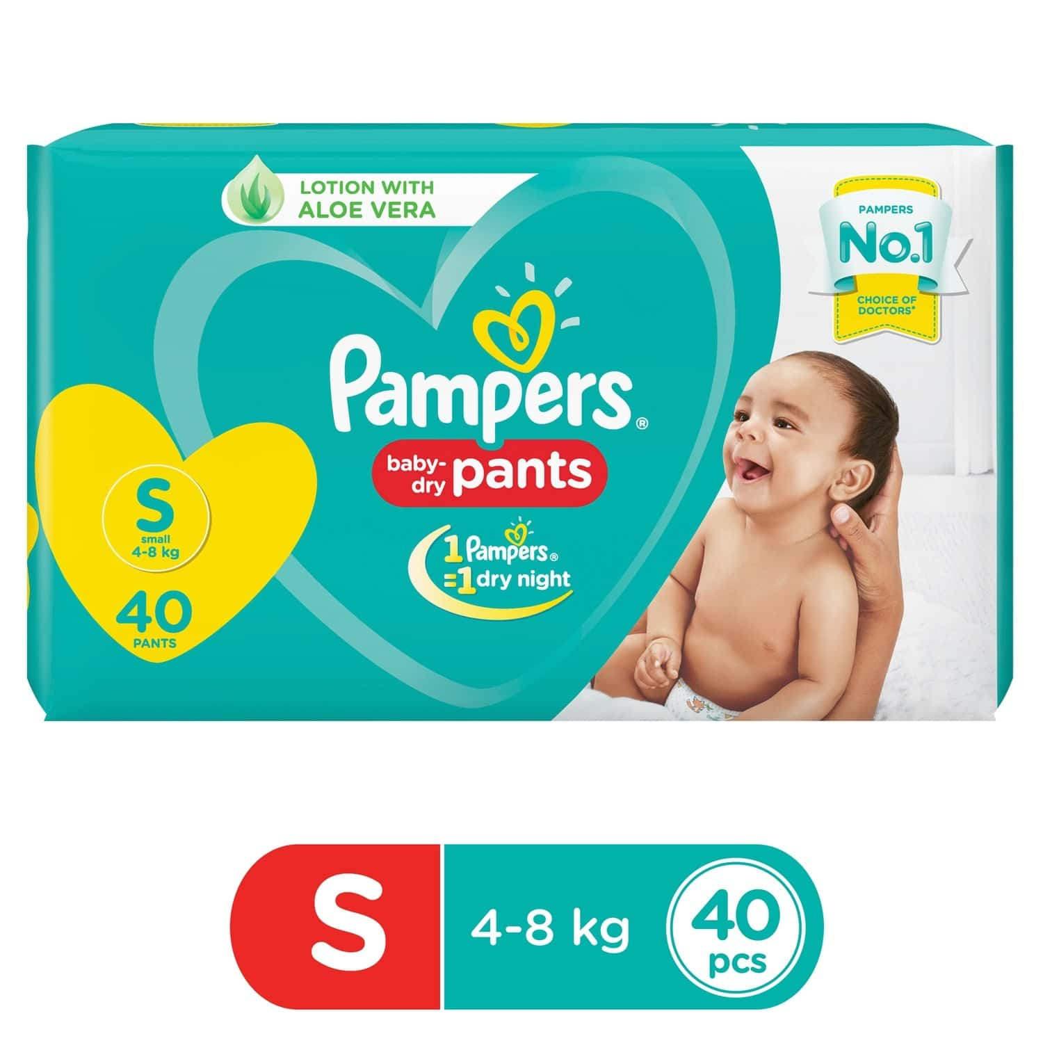 Pampers New Diapers Pants, Small, 40 Count