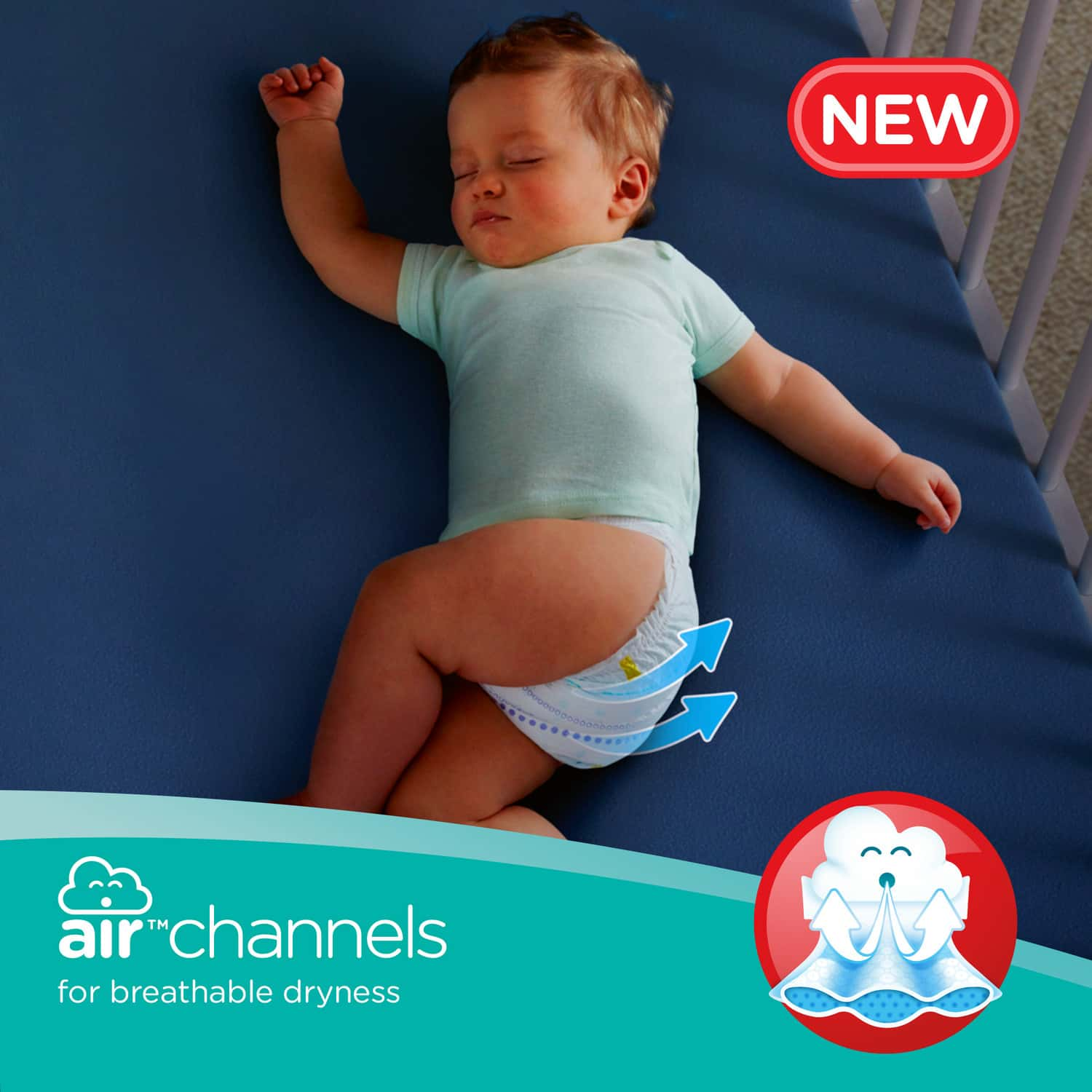 Pampers New X-large Size Diapers Pants, 112 Count