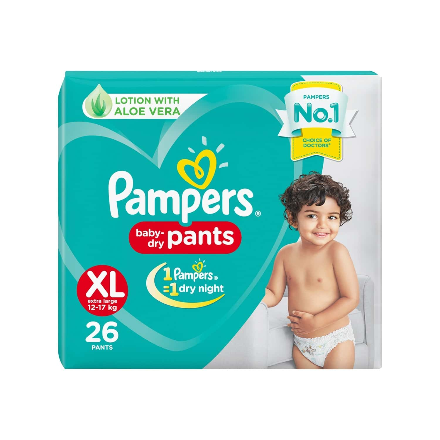Pampers New X-large Size Diapers Pants, 26 Count