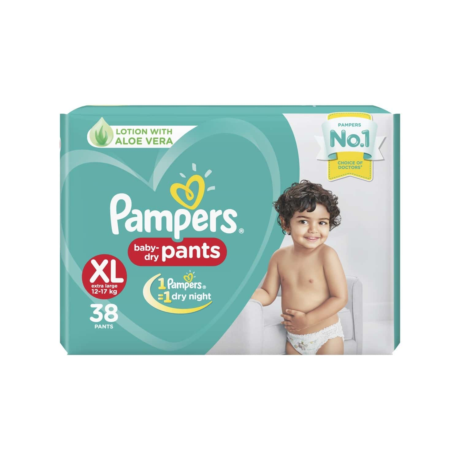 Pampers New X-large Size Diapers Pants, 38 Count