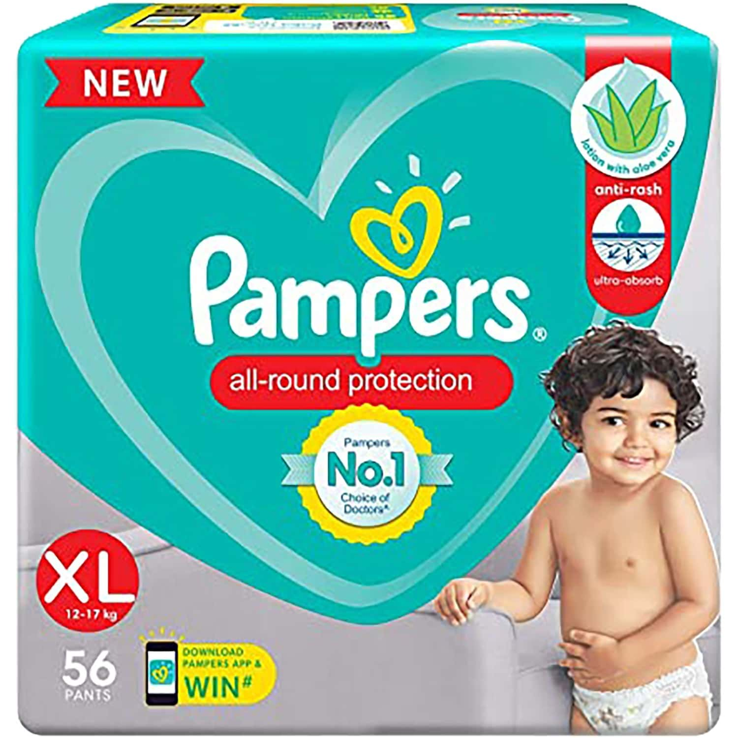 Pampers New Diapers Pants, Xl - 56 Count