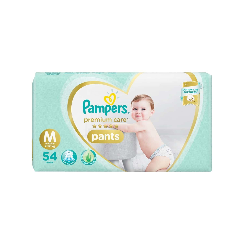 Pampers Premium Care Pants Diapers, Medium - 54 Count