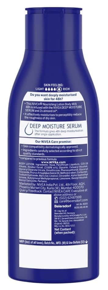 Nivea Body Milk Nourishing Lotion, 120ml