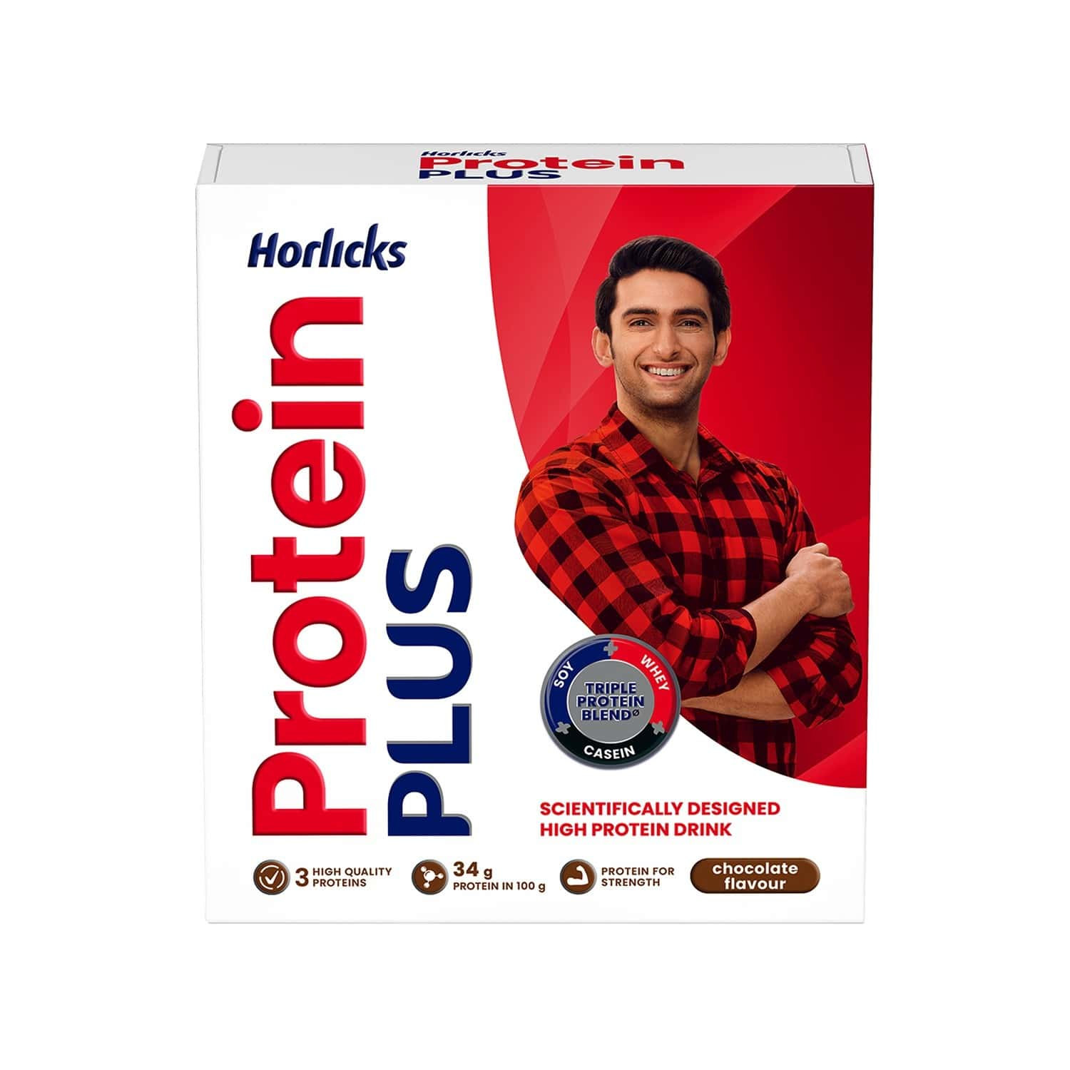 Horlicks Protein Plus Chocolate Nutrition Drink Refill Of 200 G