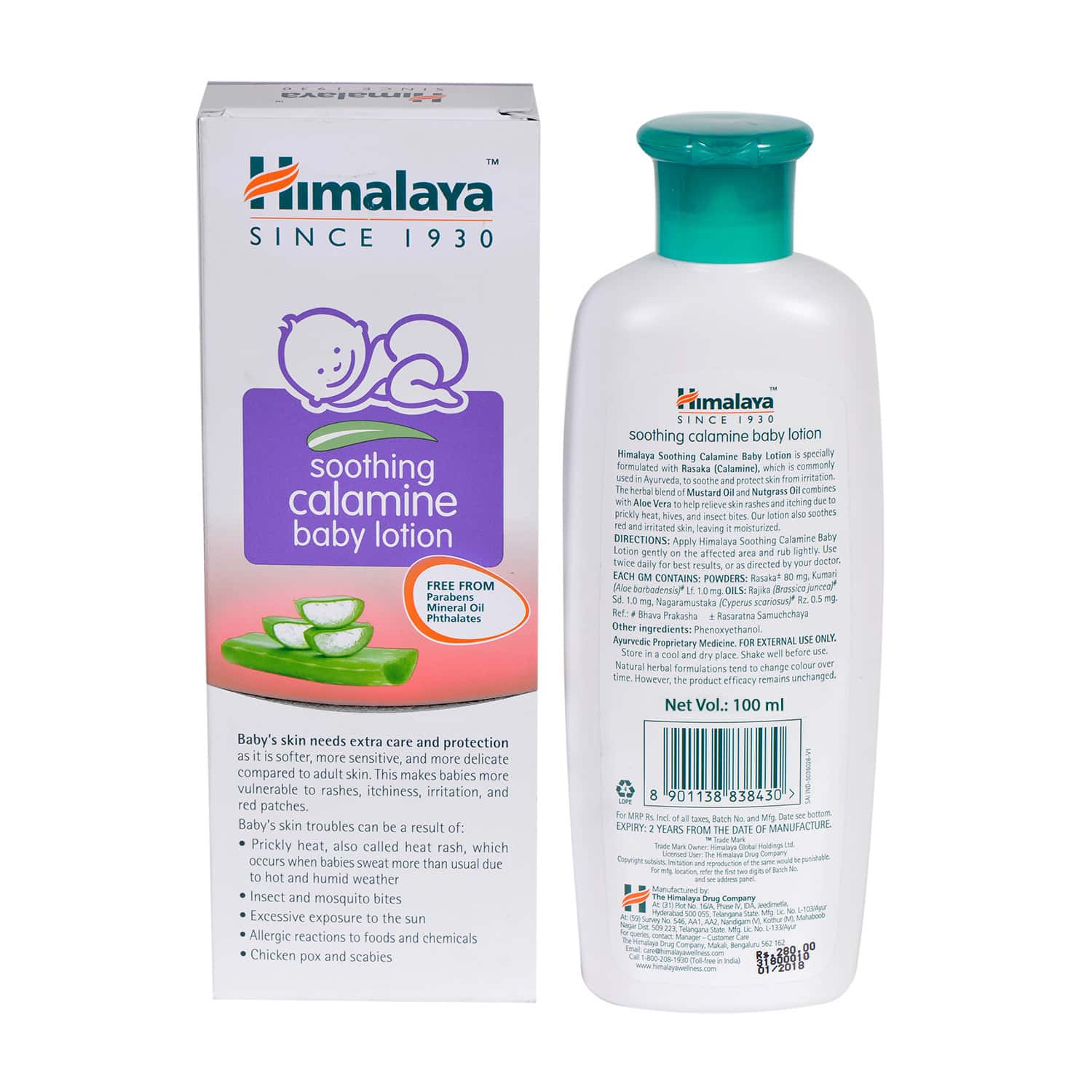 Himalaya Baby Soothing Calamine Baby Lotion Bottle Of 100 Ml