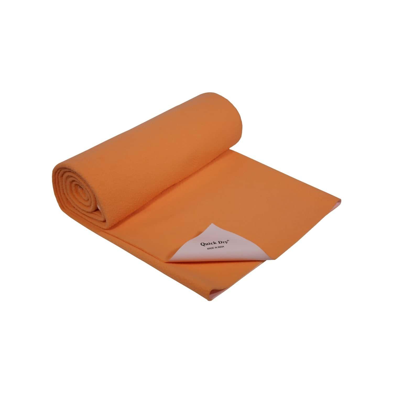 Quick Dry Baby Bed Protector - Plain Peach - Medium - 100 X 70 Cms