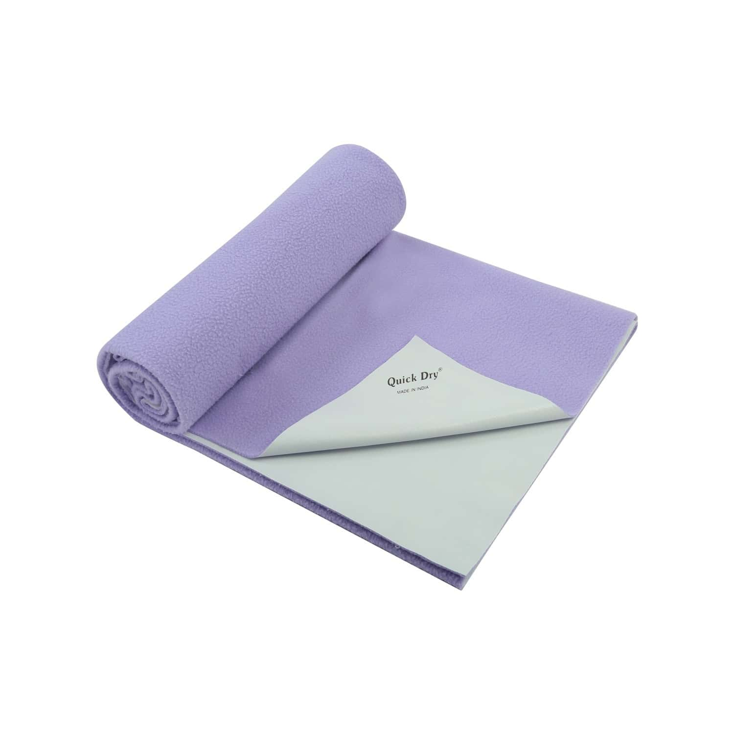 Quick Dry Baby Bed Protector - Plain Lilac- Small - 70 X 50 Cms