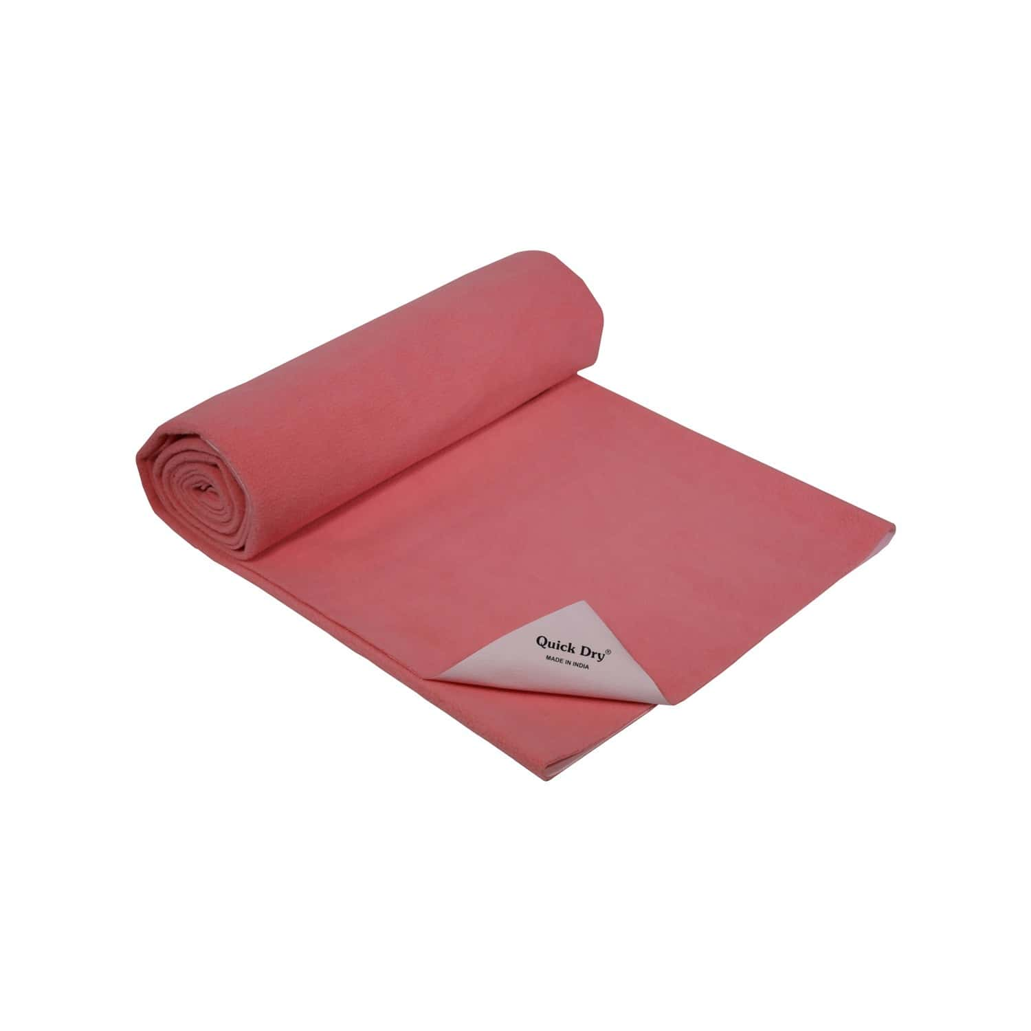 Quick Dry Baby Bed Protector - Plain Rose- Medium - 100 X 70 Cms