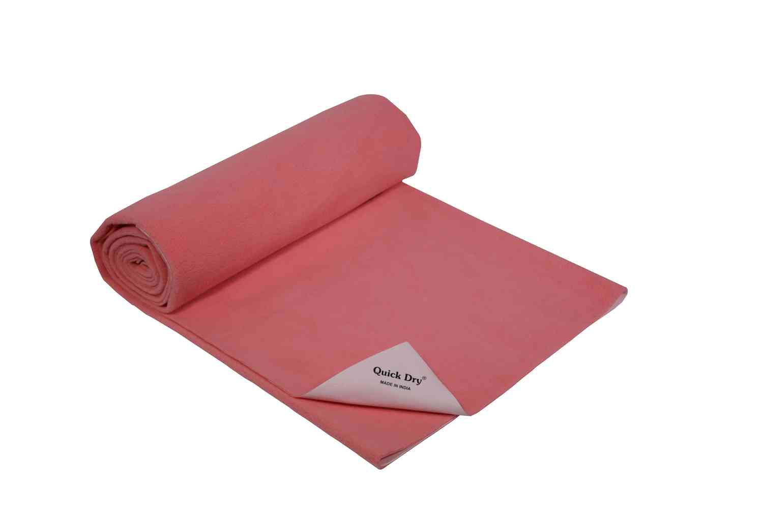 Quick Dry Baby Bed Protector - Plain Rose- Large - 140 X 100 Cms