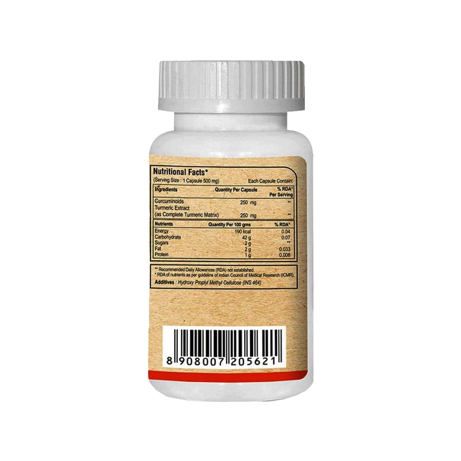 Pure Nutrition Curcumin Plus Anti-inflammatory Capsules With Curcuminoids & Turmeric Extracts Bottle Of 30
