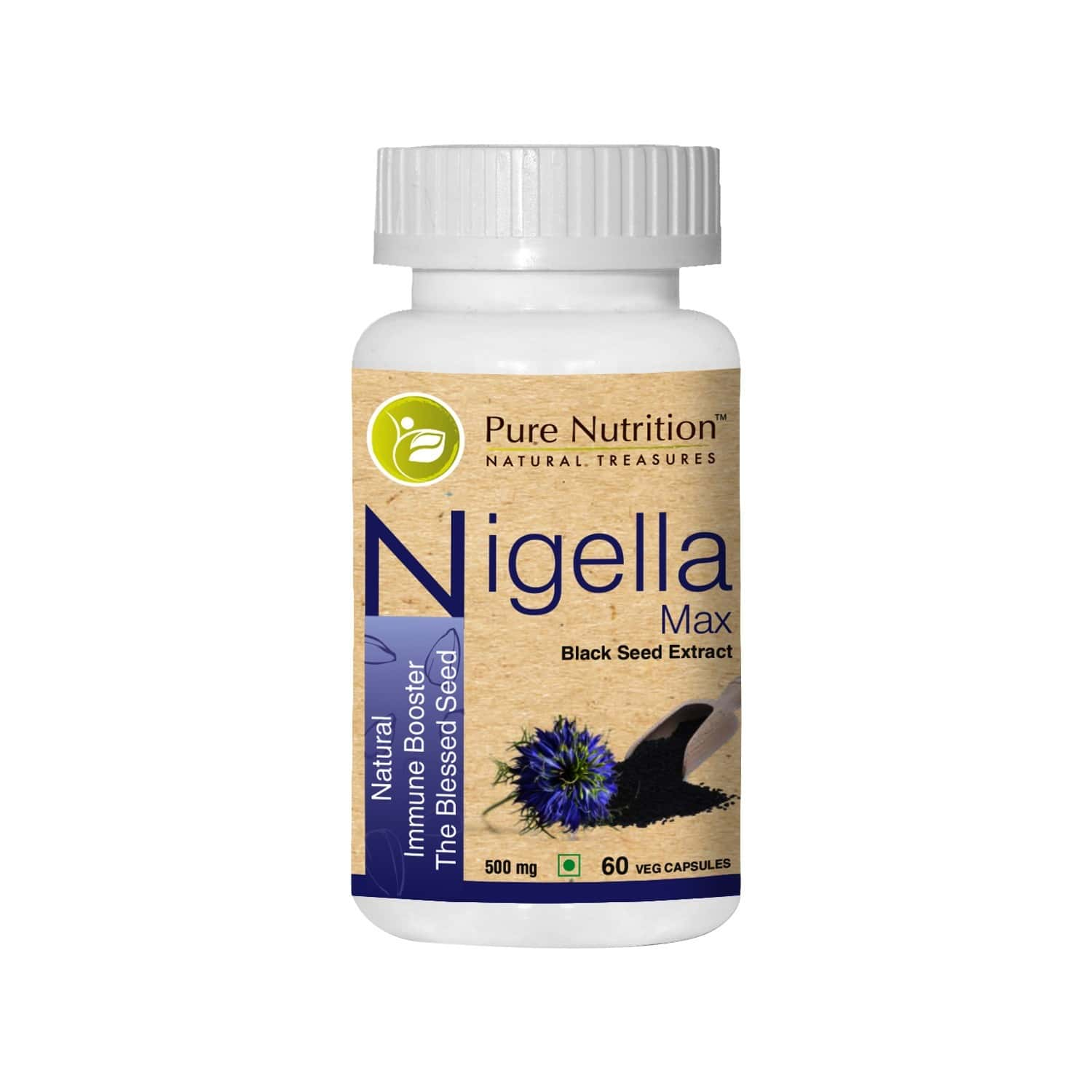 Pure Nutrition Nigella Max (natural Immune Booster The Black Seed) - 60 Caps