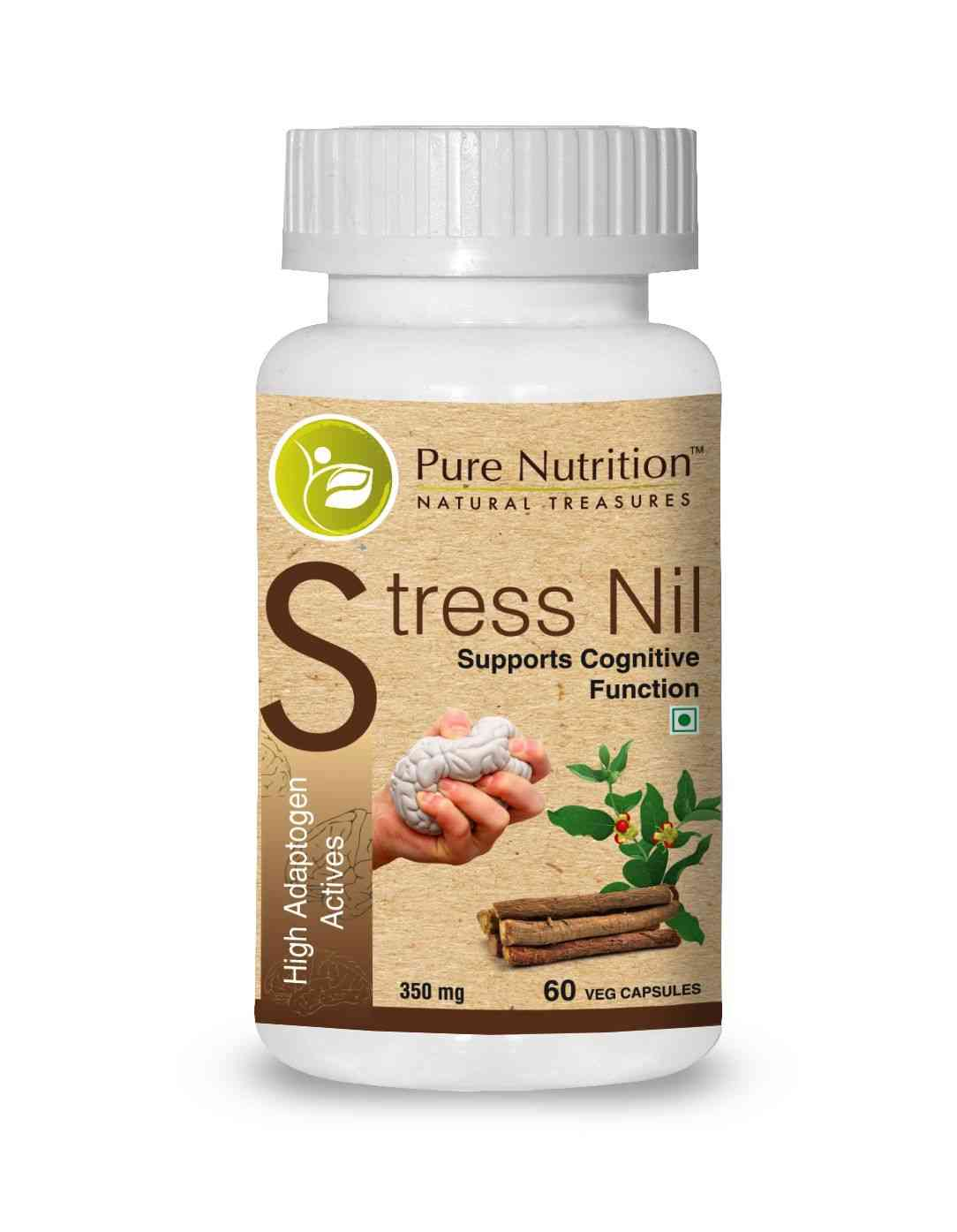 Pure Nutrition Stress Nil (higher Adptogen Activities) - 60 Caps