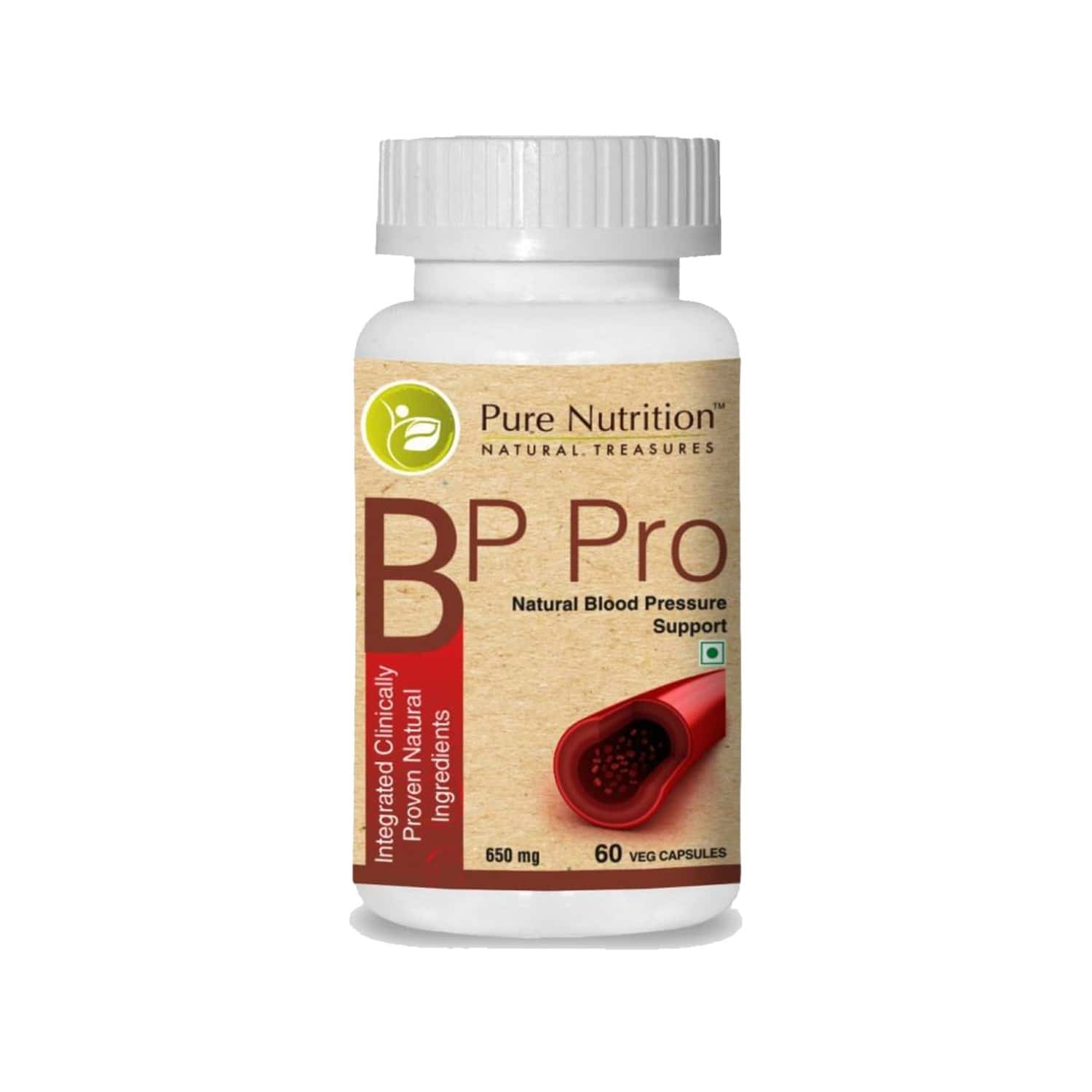 Pure Nutrition Bp Pro Management (integrated Clinically Proven Natural Ingredients) - 60 Caps