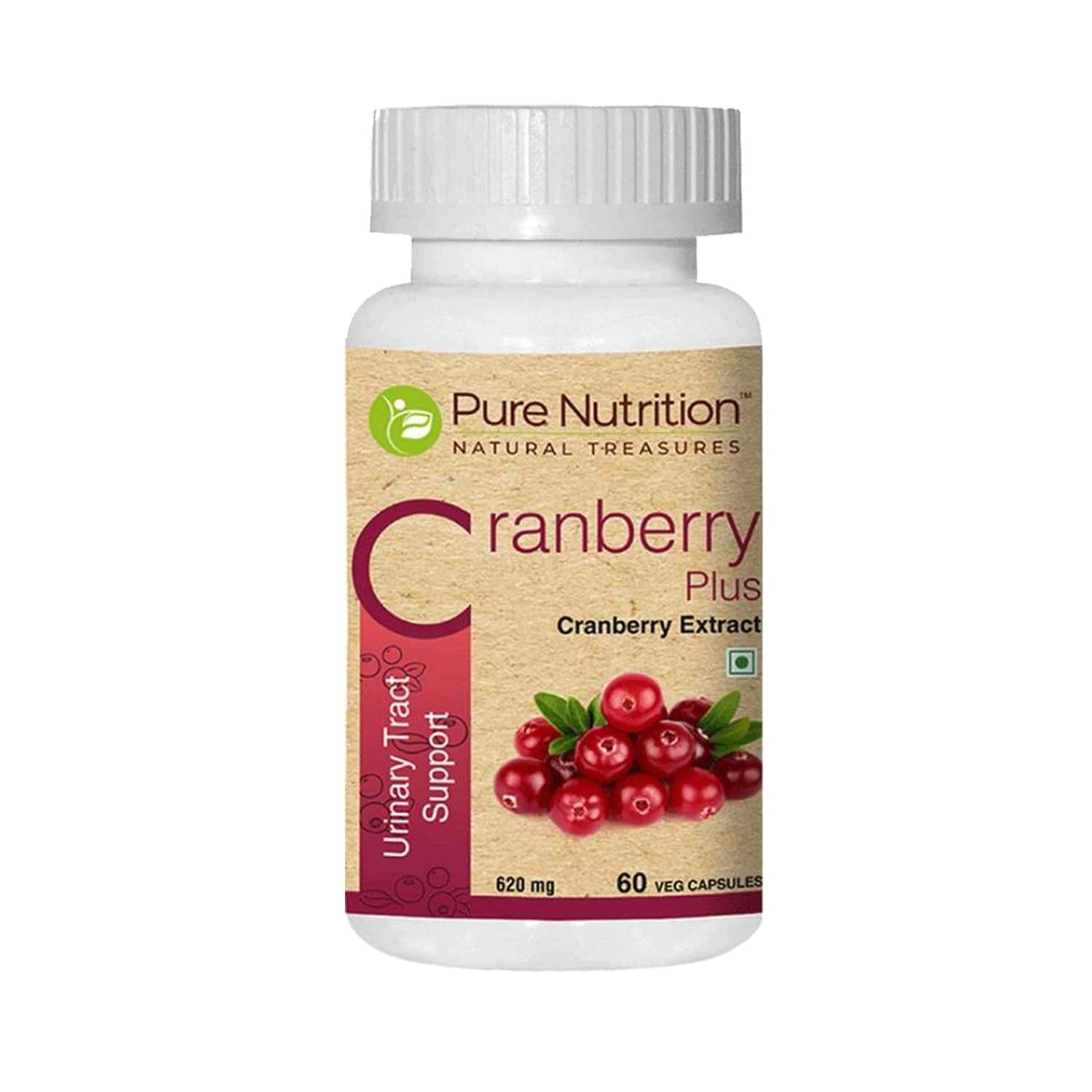 Pure Nutrition Cranberry Plus Urinary Tract Support Capsules Bottle Of 60