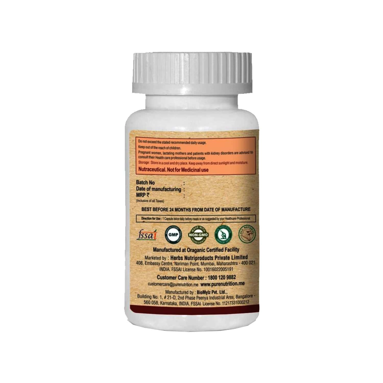 Pure Nutrition Chitomax (supports Fat Blocking & Fat Burning) - 60 Caps