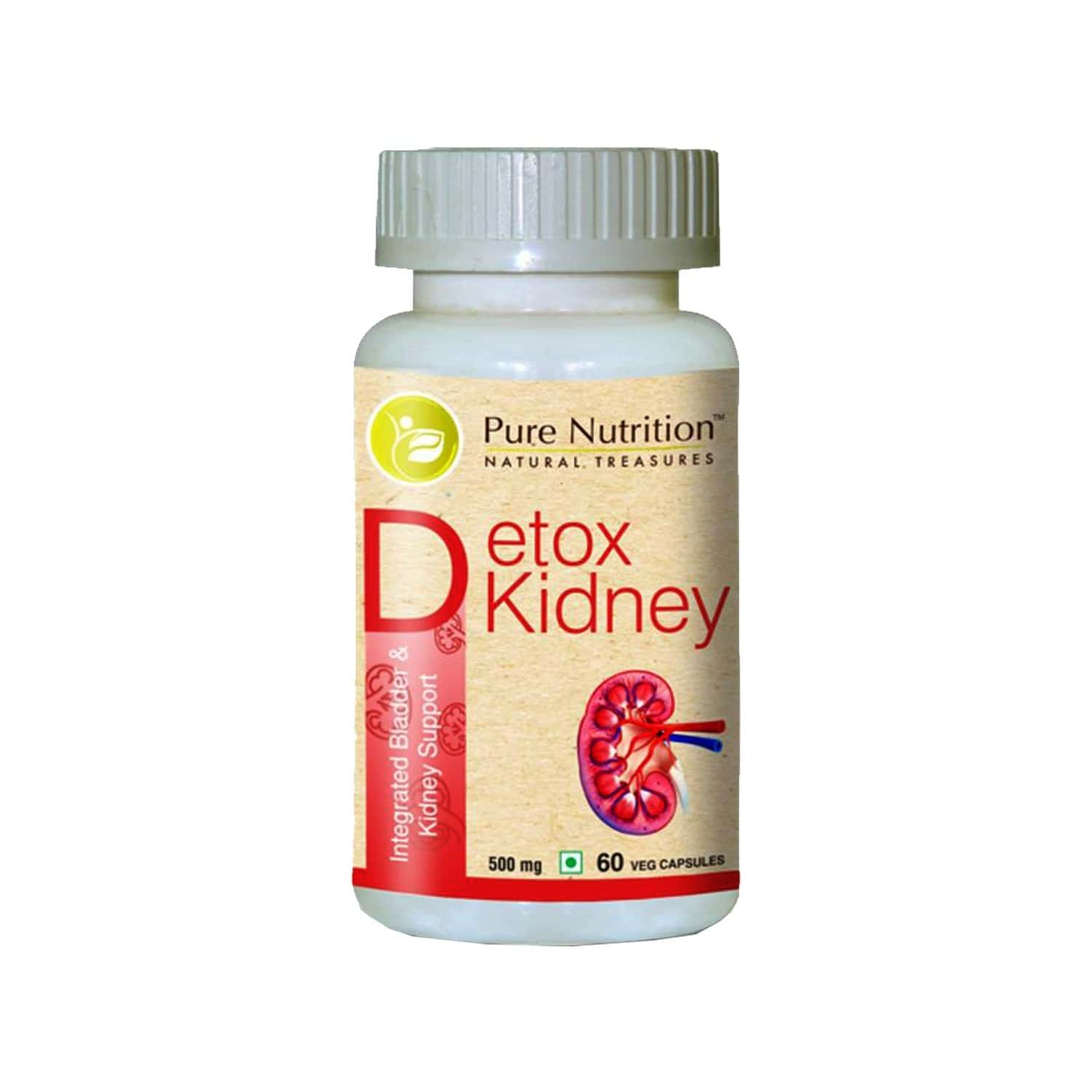Pure Nutrition Detox Kidney (integrated Bladder And Kidney Support) - 60 Caps