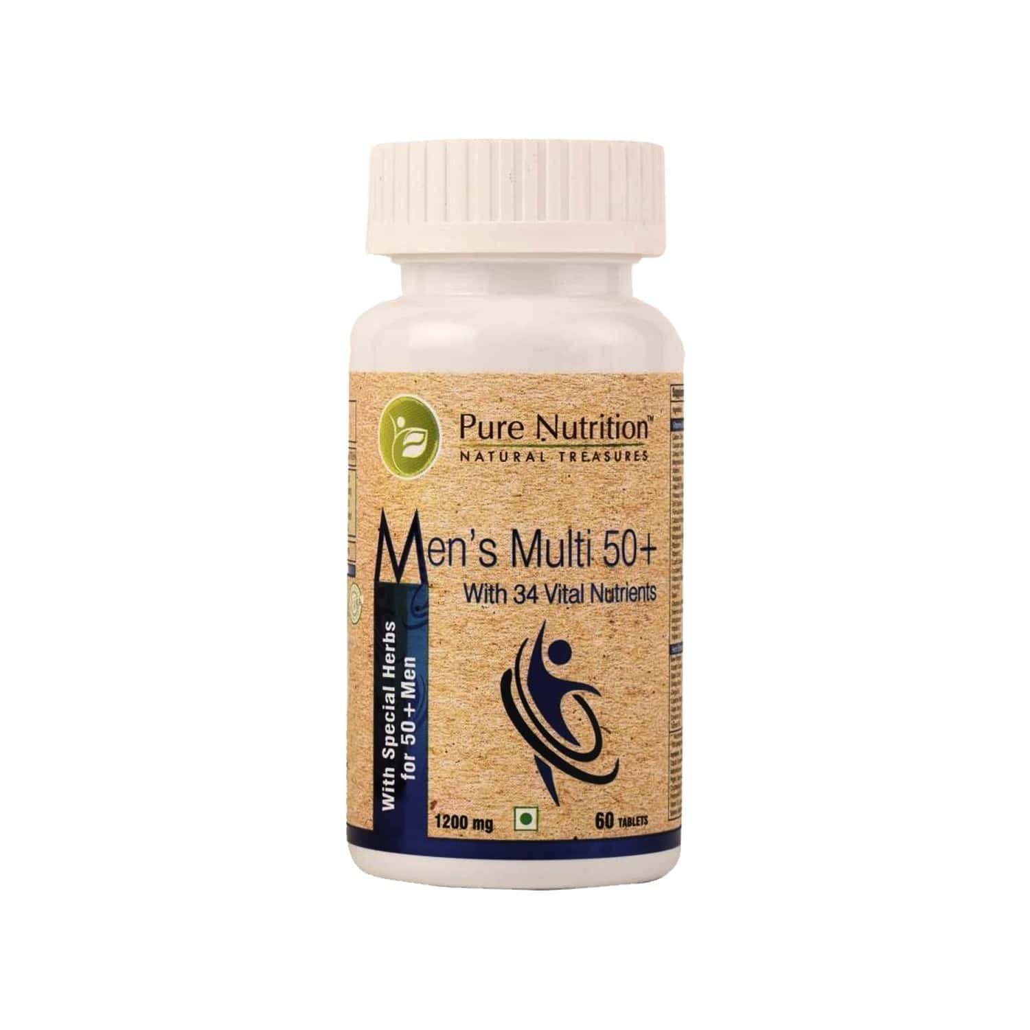 Pure Nutrition Men's Multi 50+ (for Men Approaching Or Past Their 50s) - 60 Tablets