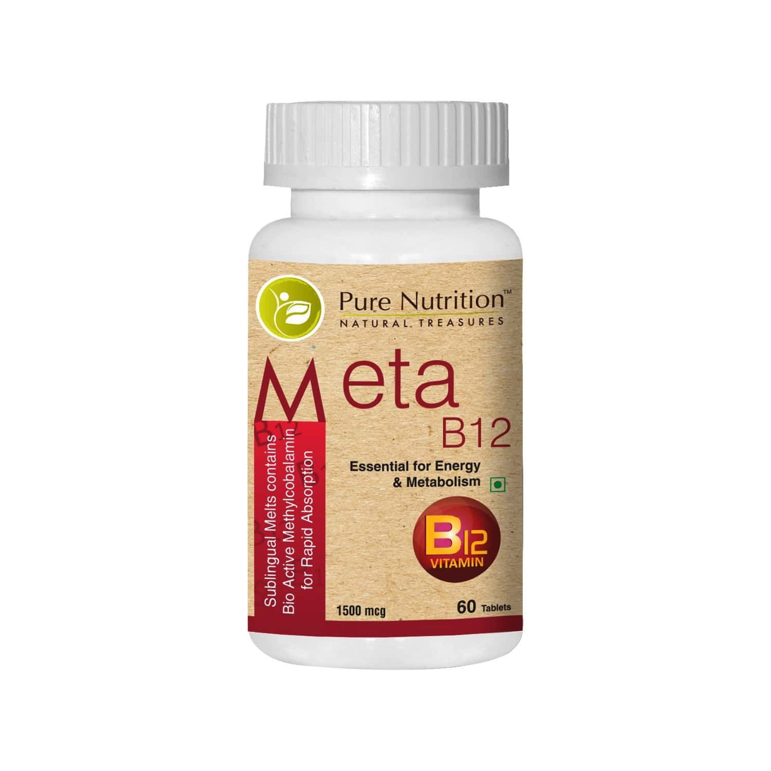 Pure Nutrition Meta B12 (vitamin B12) - 60 Tablets