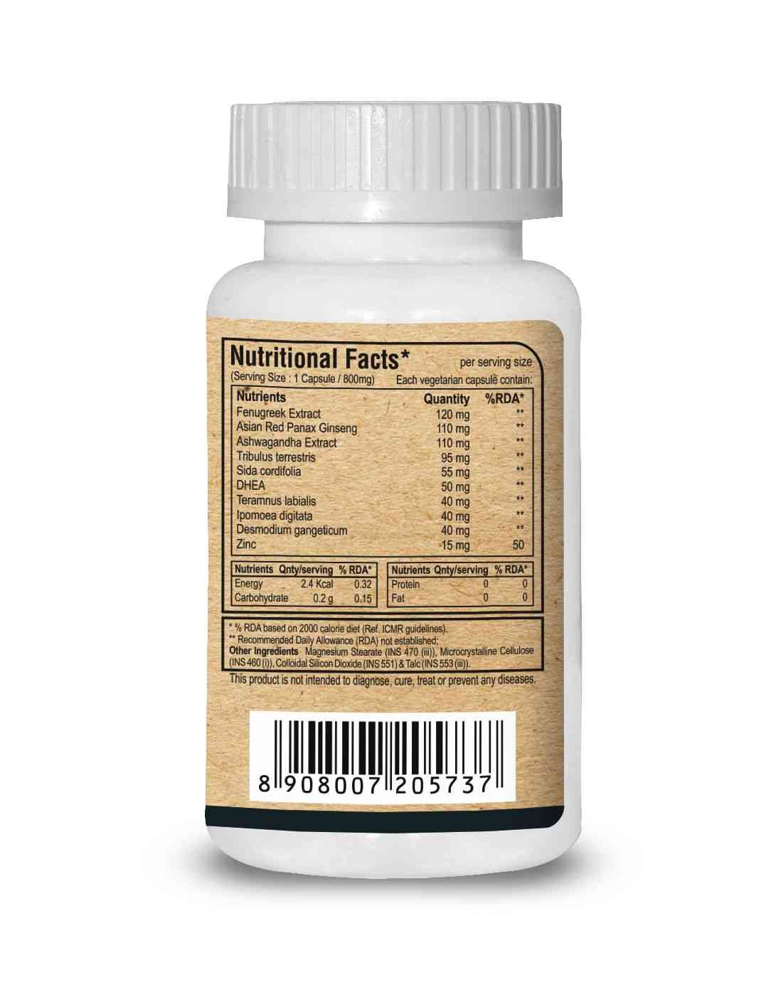 Pure Nutrition Acutest (testosterone Support)- 60 Caps