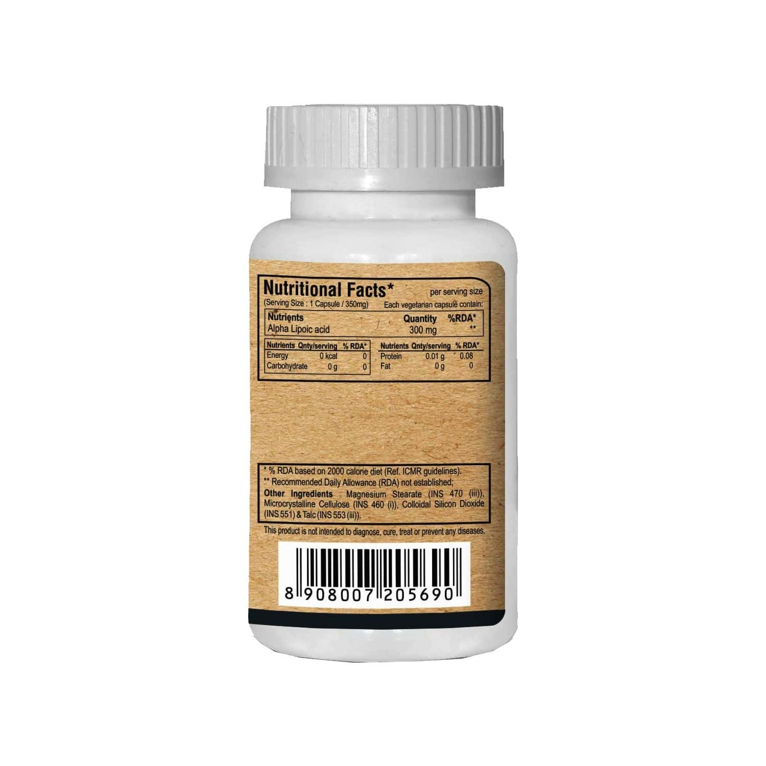 Pure Nutrition Alpha Lipoic Acid (optimum Anti-oxidant Support) - 60 Caps