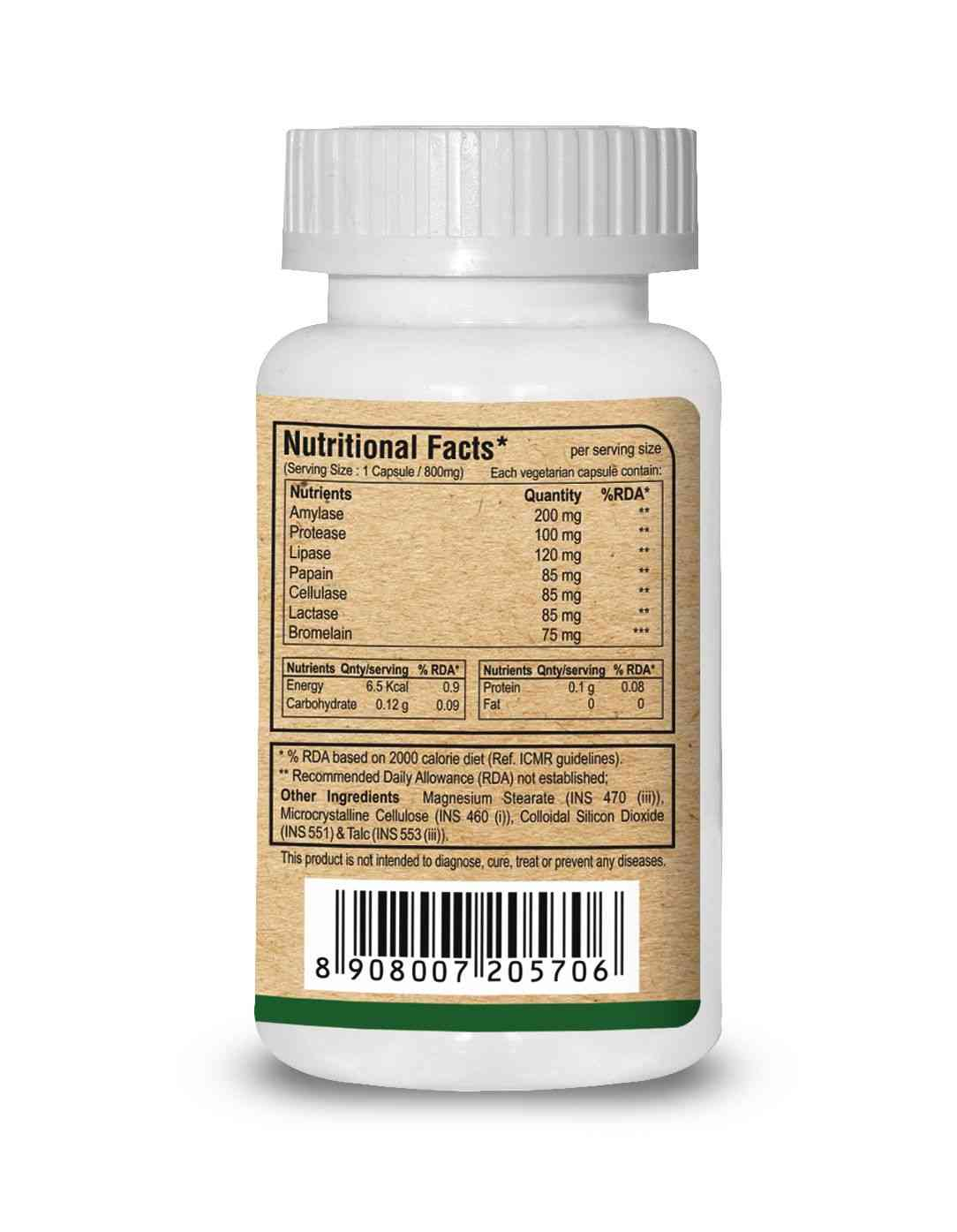 Pure Nutrition Digestive Enzymes (multi-enzyme Blend) - 60 Caps