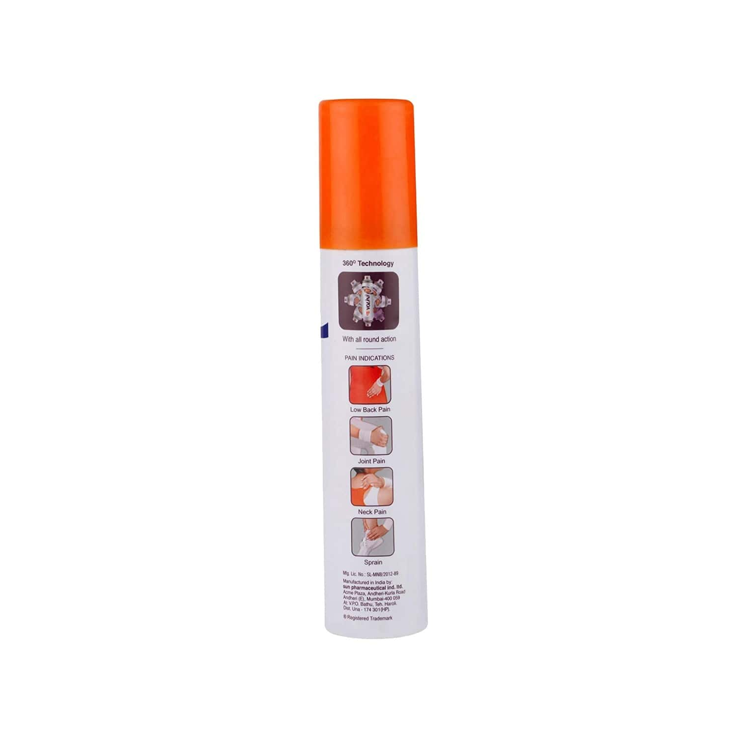 New Volini All Round 360 Action Pain Relief Spray Bottle Of 60 G