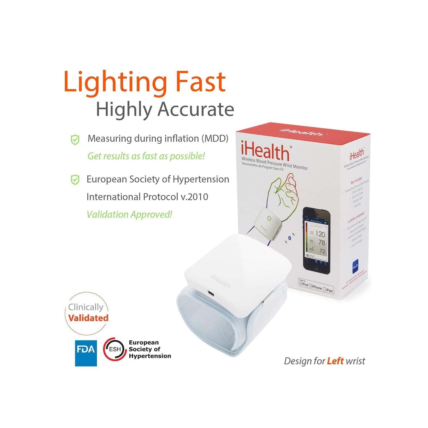Ihealth Sense Wireless Connected Wrist Bp Monitor