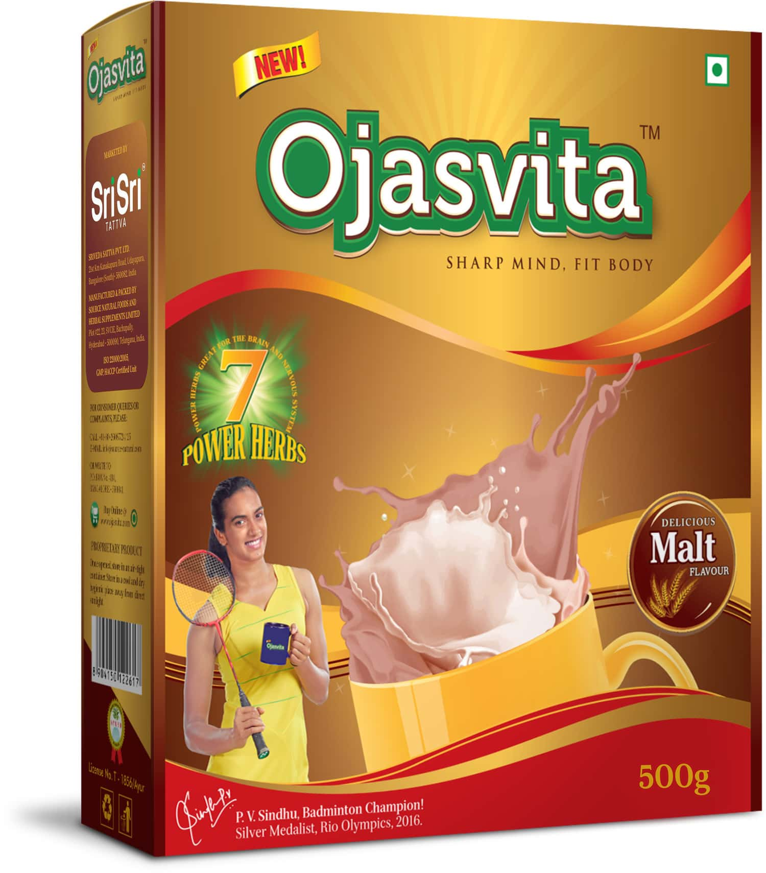 Sri Sri Tattva Ojasvita Malt Box Refill, 500gm